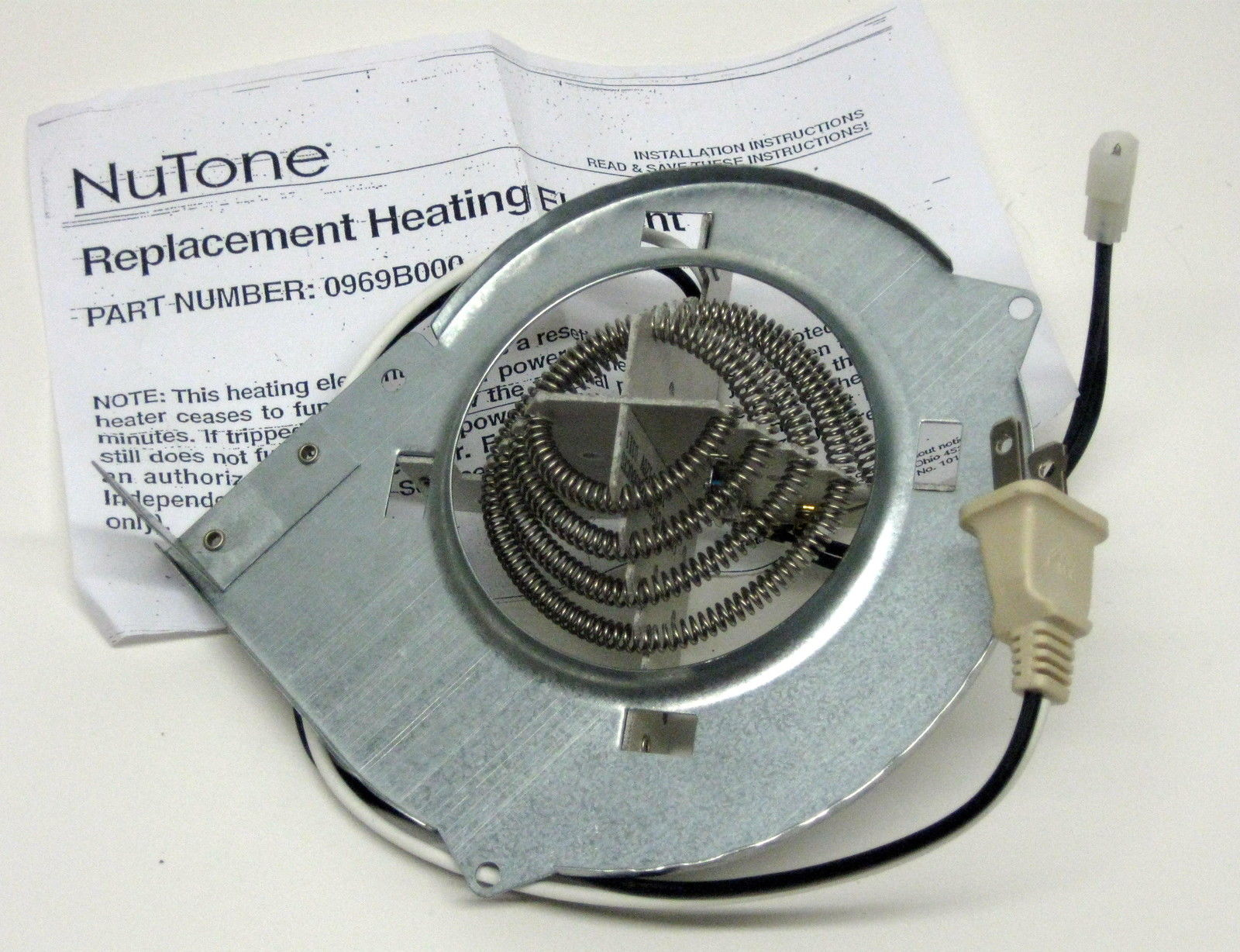 Broan bathroom fan parts