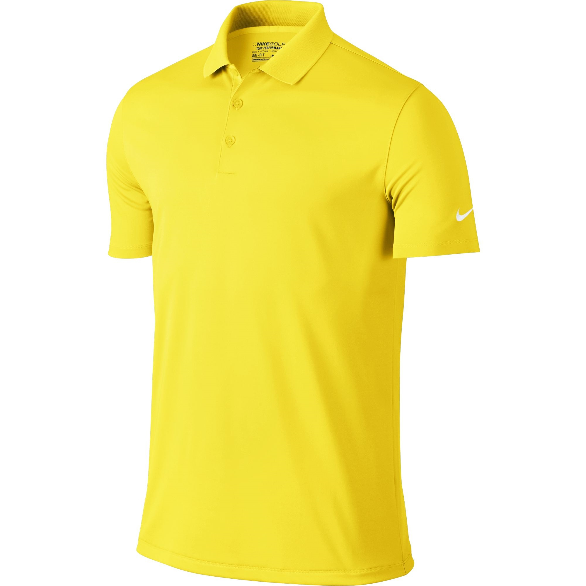 Nike Golf Closeout Mens Victory Solid Polo Yellow Strike 725518