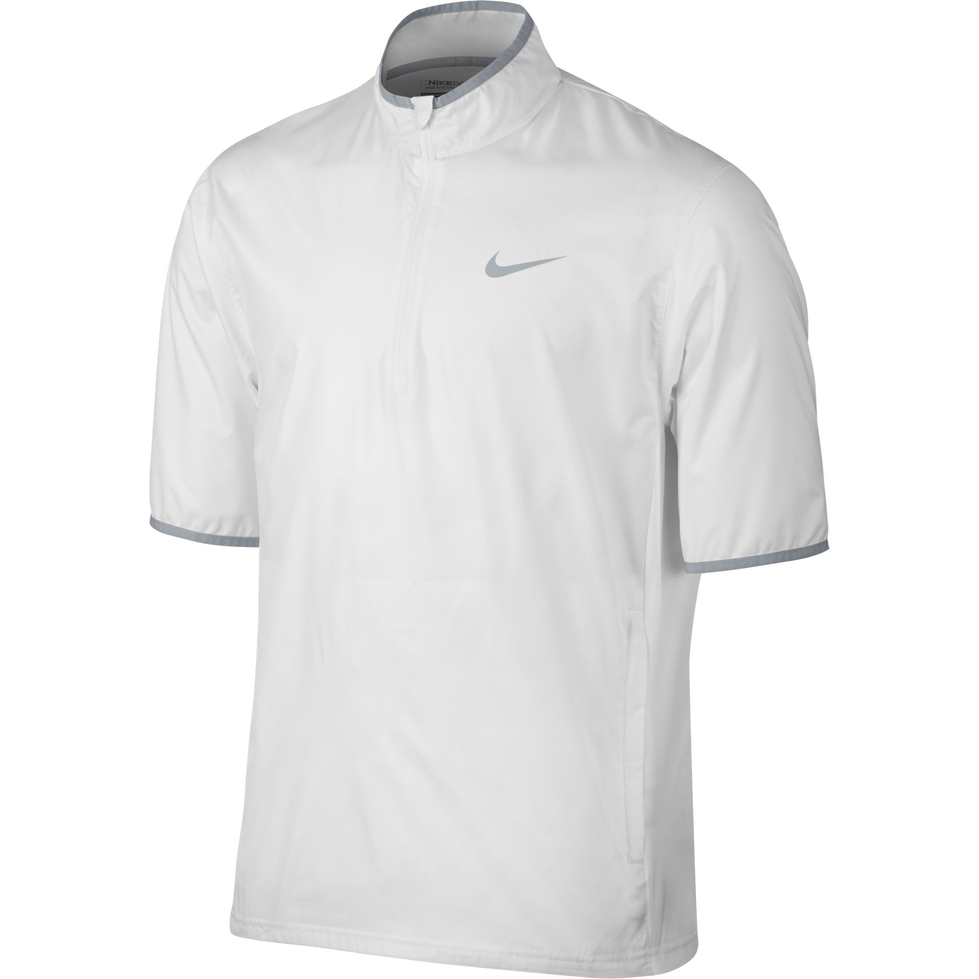 ed9ff42cbb9e Details about Nike Golf CLOSEOUT Men s Shield Short Sleeve Jacket (White)  833302-100 Was  80