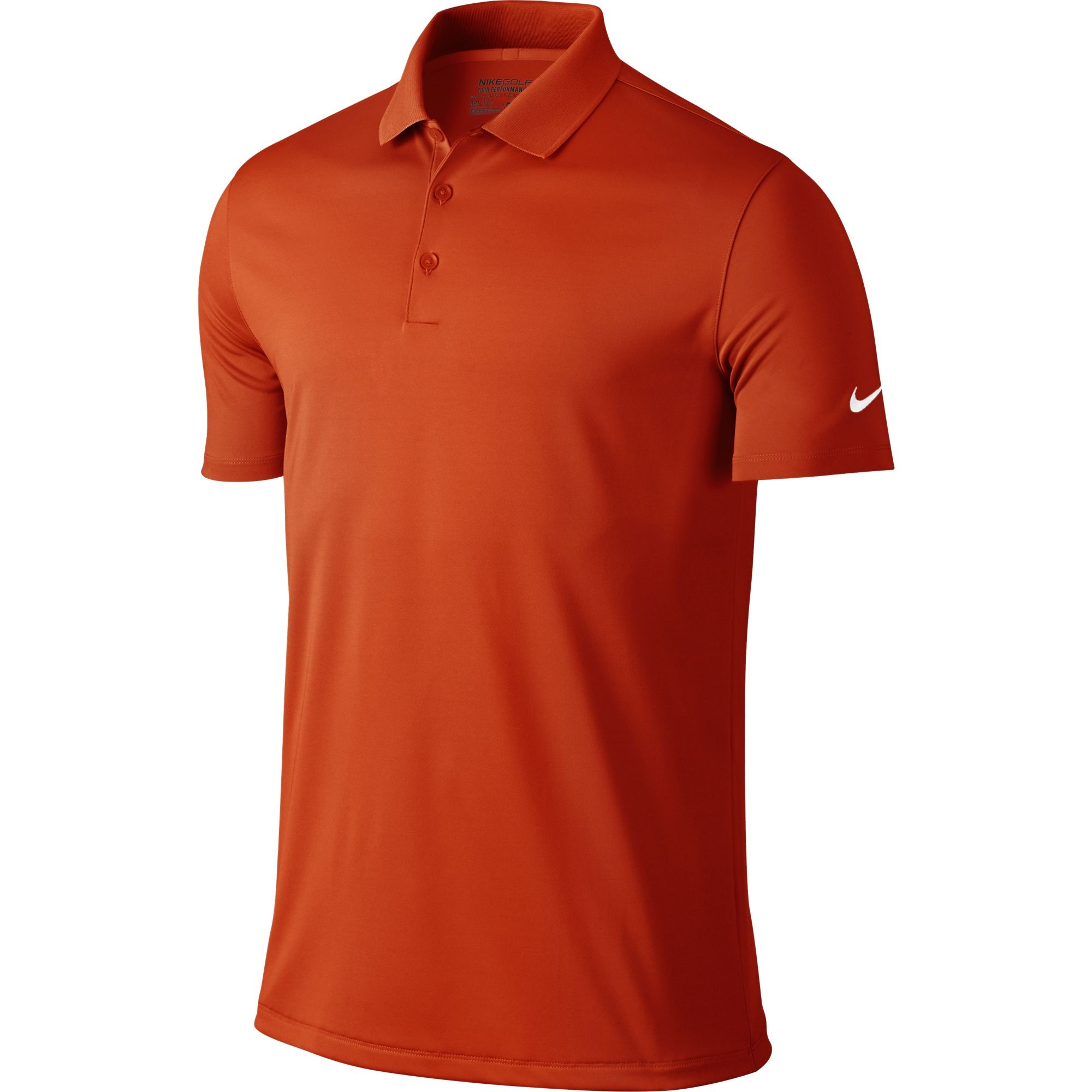2a2b0718 Details about Nike Golf CLOSEOUT Men's Victory Solid Polo Team Orange/White  725518-891 Was $55