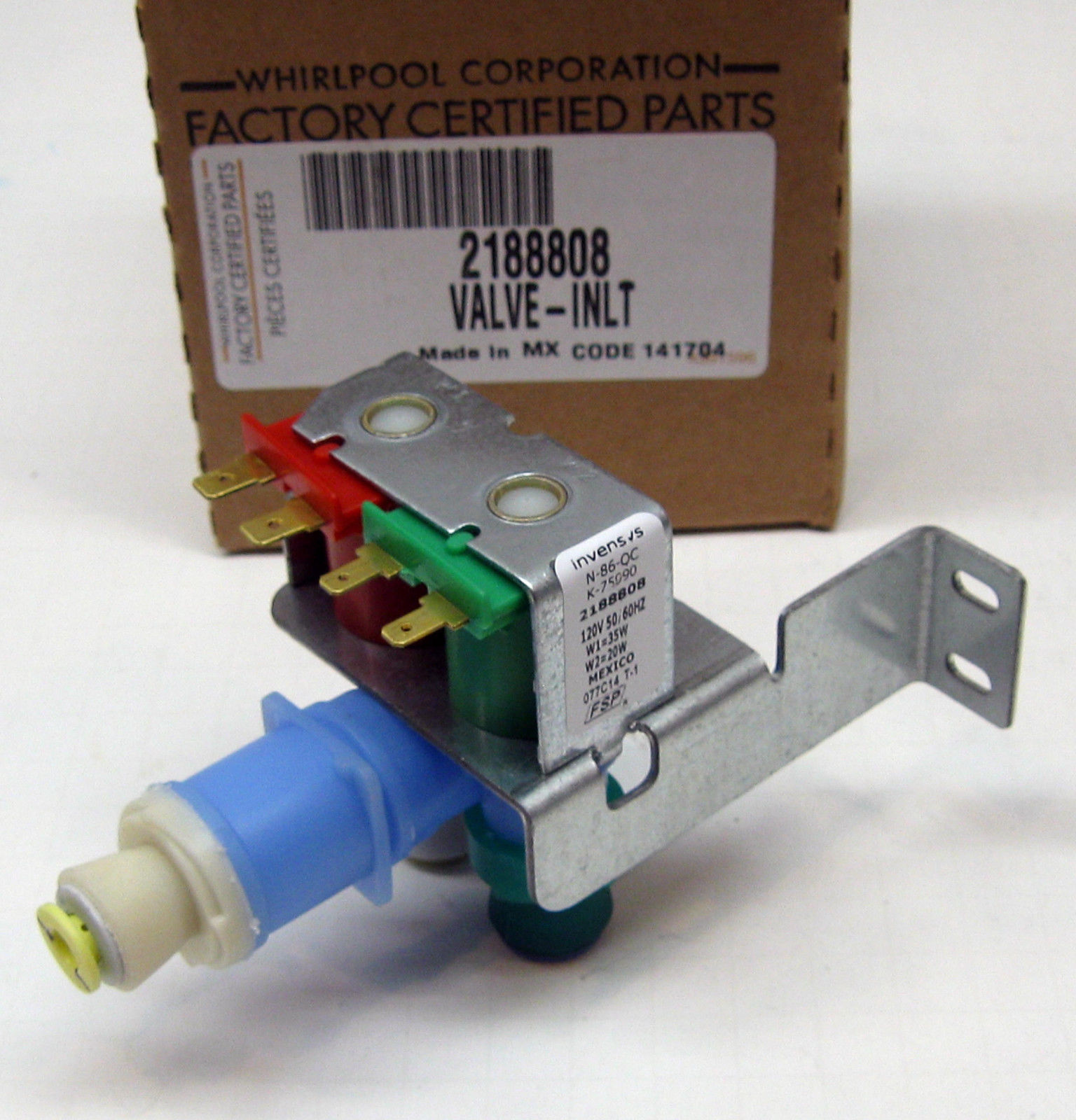 Whirlpool kitchenaid refrigerator water valve wp2188808 ps968735 ap3799250 ebay - Kitchenaid dishwasher fill valve ...
