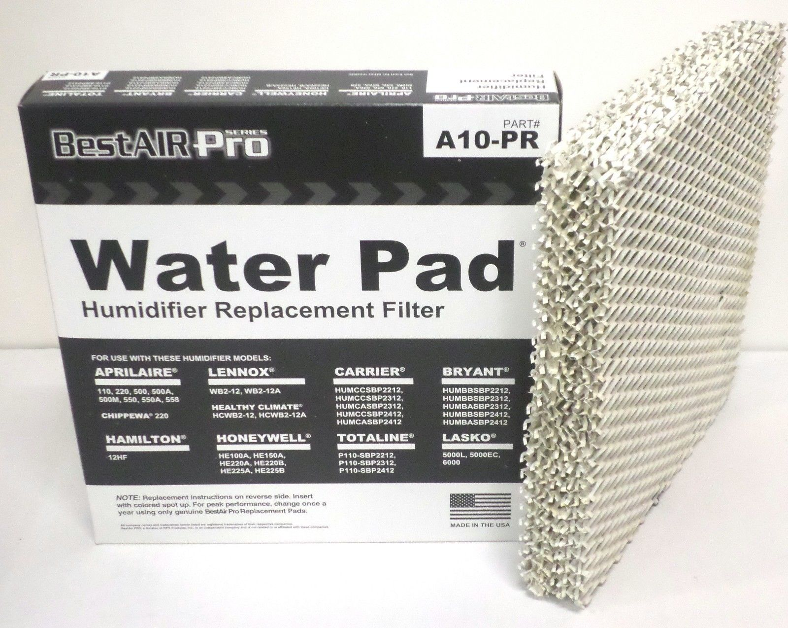 A10 10 For Aprilaire 110 220 500 550 Water Panel Filter