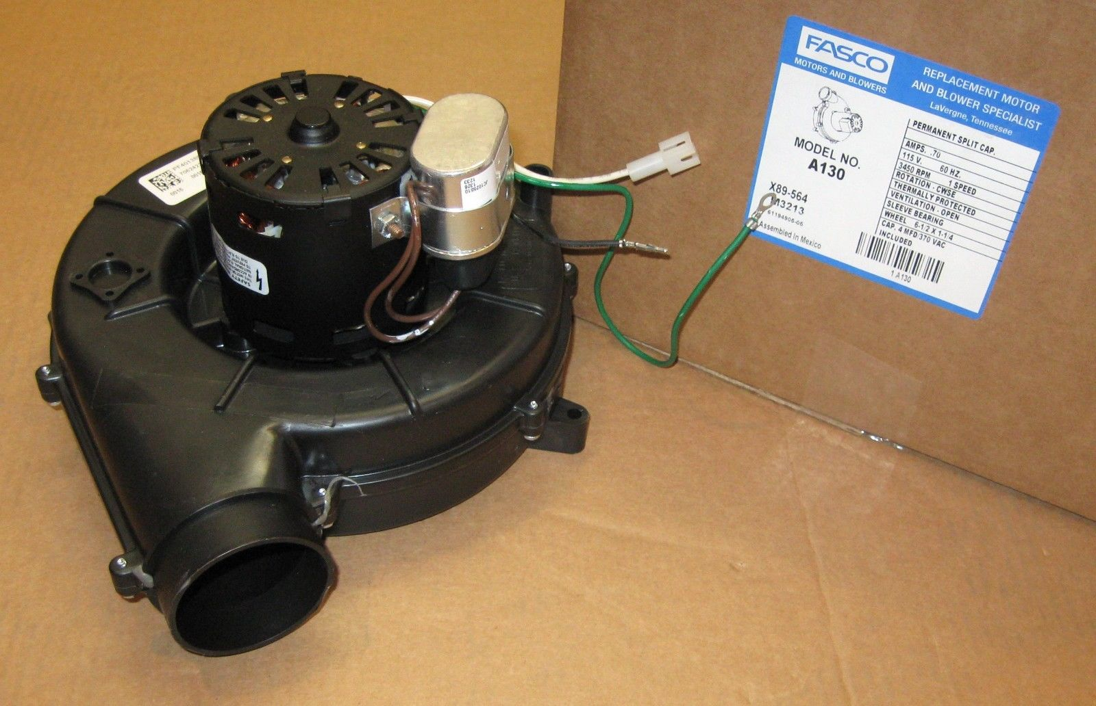 A130 Fasco Furnace Inducer Motor For D330757p035 7062 9064