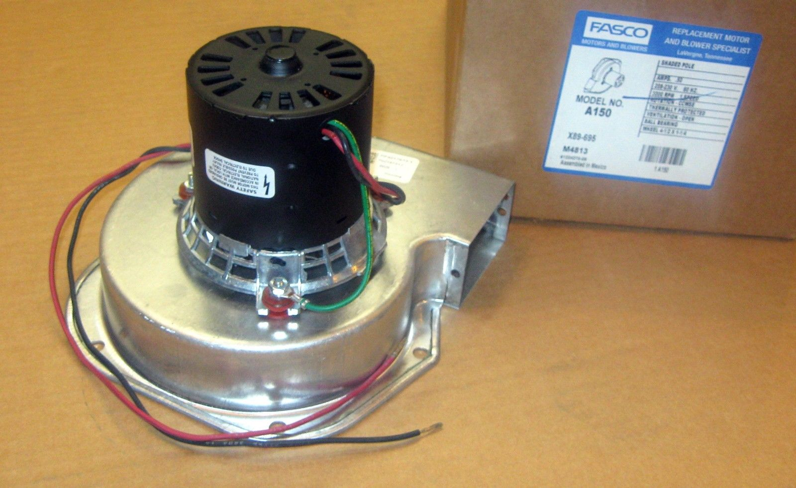 A150 fasco blower inducer motor fits trane 7021 7833 7021 for Fasco motors and blowers