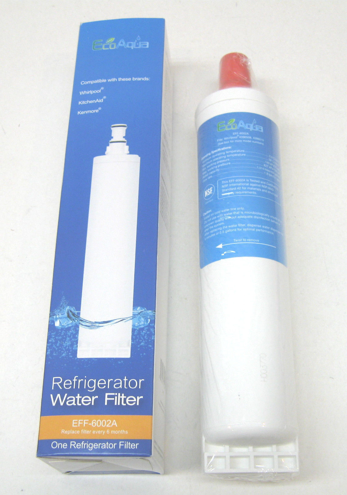 Eff 6002a Ecoaqua Refrigerator Water Filter For Whirlpool