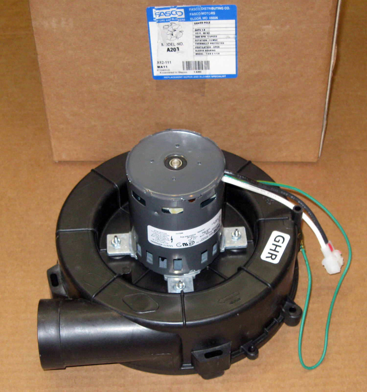 A203 Fasco Furnace Draft Inducer Blower Motor Fits Lennox