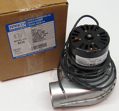A138 fasco draft inducer furnace blower motor fits lennox for Lennox inducer motor assembly