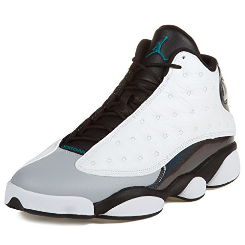 huge selection of f3707 a46e1 Details about Mens Air Jordan 13 Retro White Tropical Teal-Black-Wolf Grey  414571 115