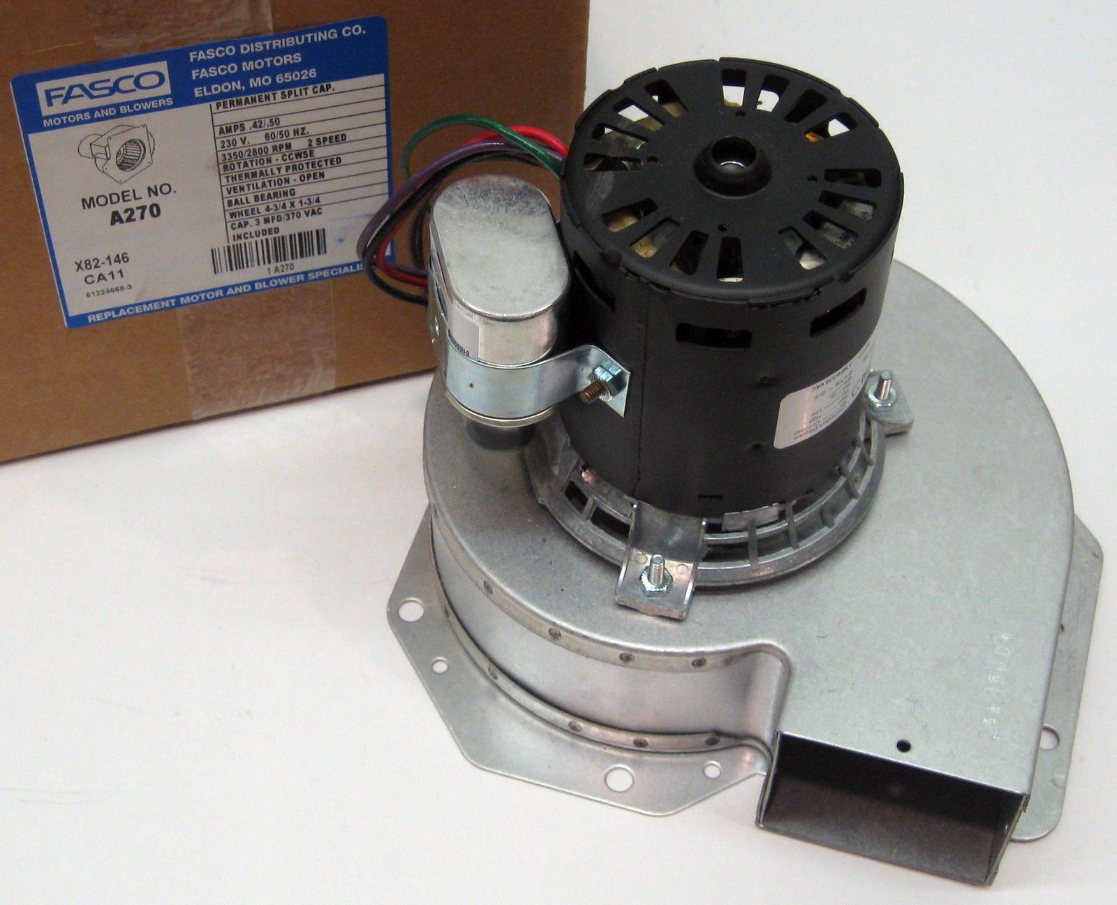A270 Fasco Blower Furnace Draft Inducer Motor fits Trane 7062-5033 ...