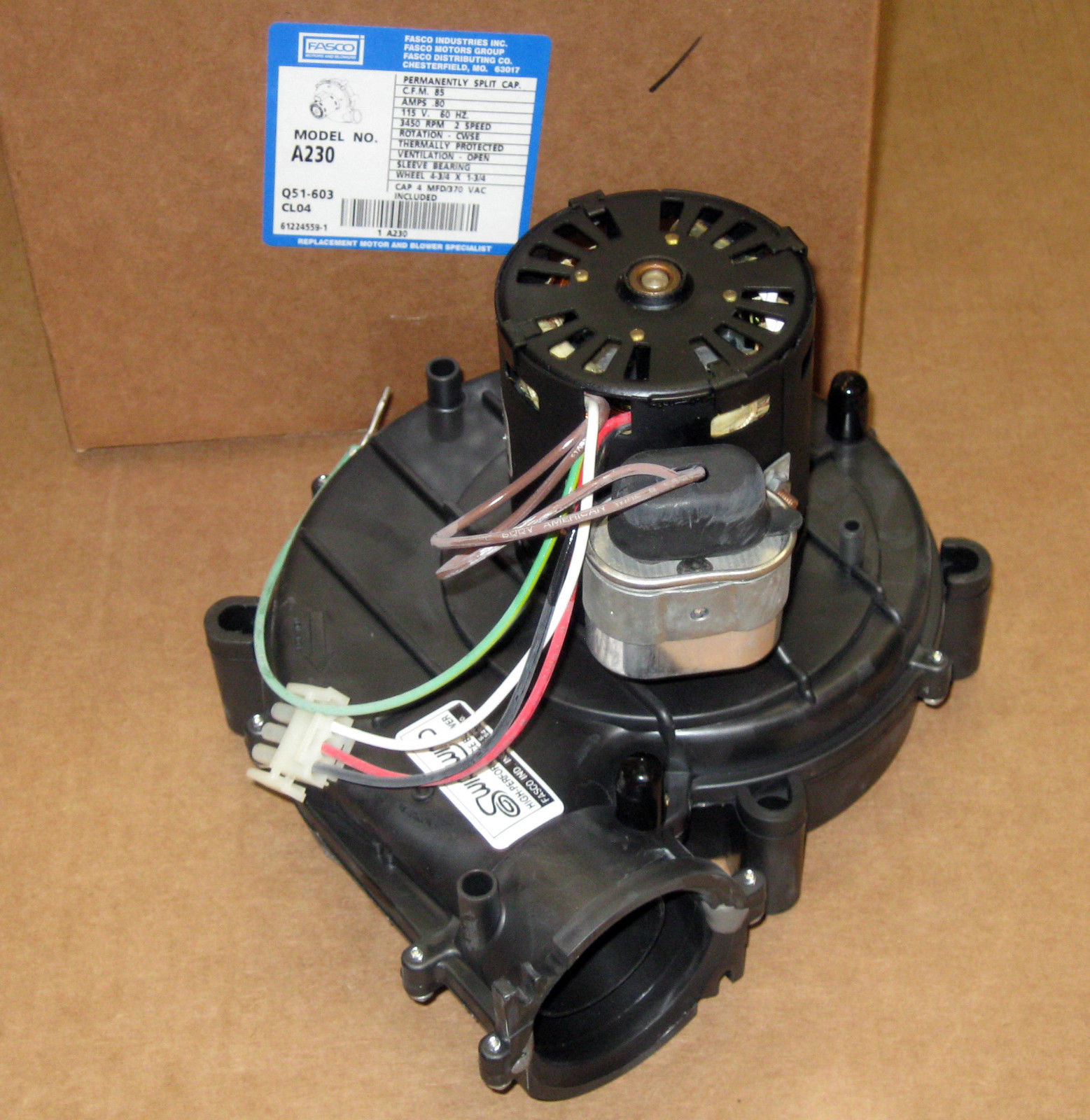 A230 Fasco Draft Inducer Motor For York 7062 5094s 17476