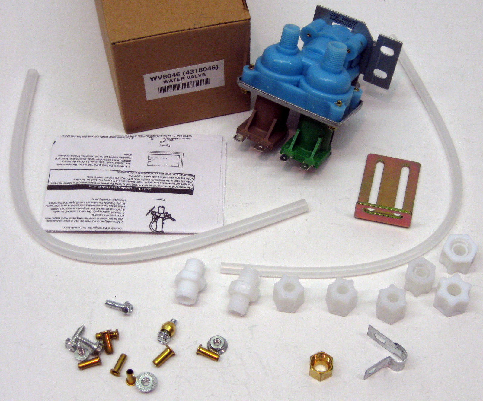 Wv8046 Water Valve For 4318046 2188542 Whirlpool Kenmore