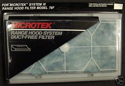 Broan Microtek Ductless Range Vent Hood Filter Package Of