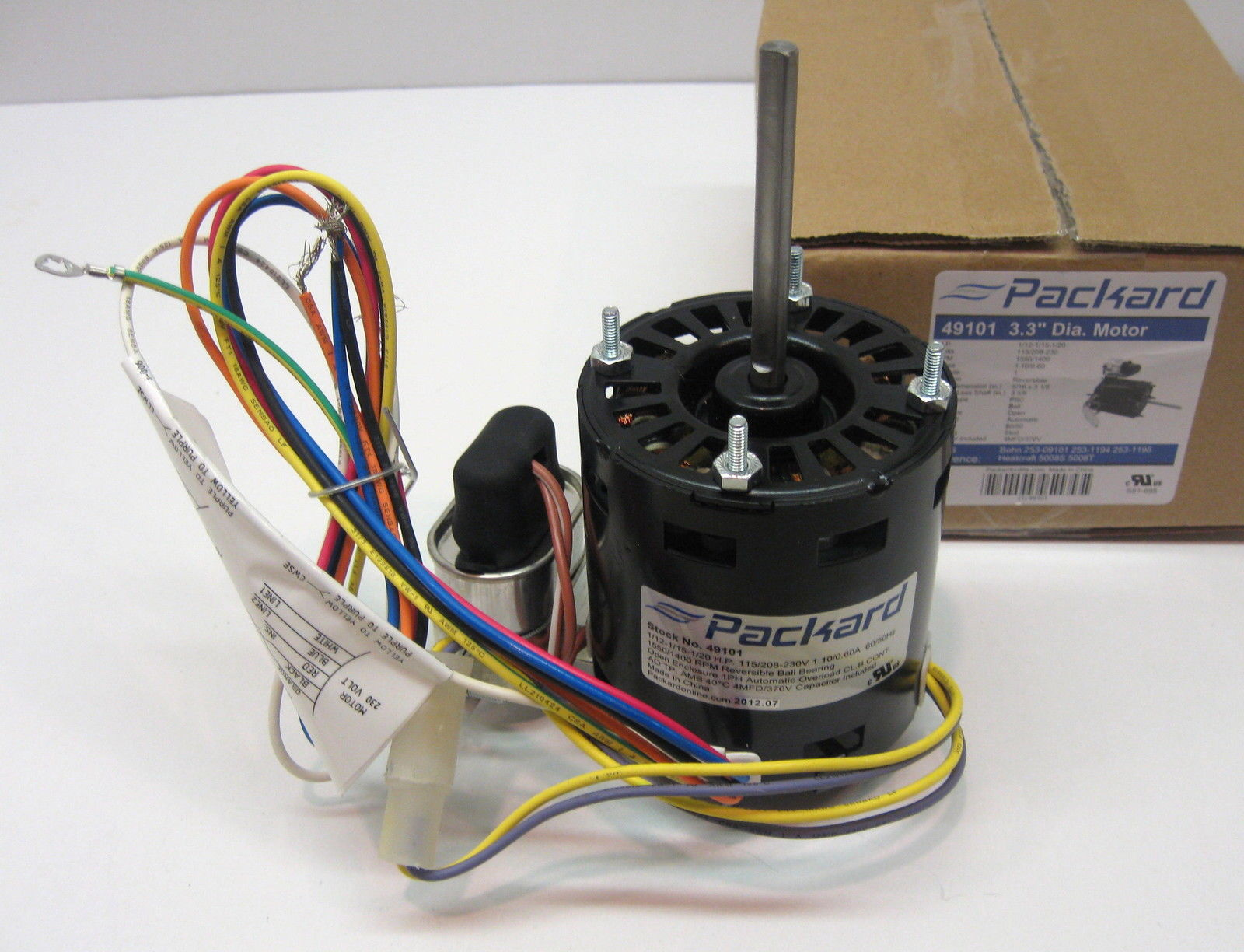 49101 Refrigeration Motor For Bohn Heatcraft 253 09101