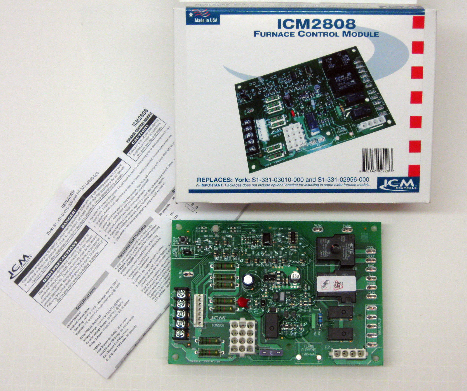 Icm2808 Icm Furnace Control Board For York S1 331 03010000