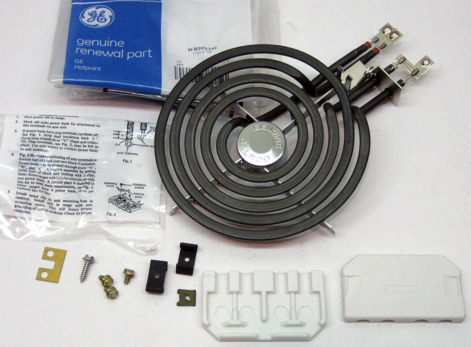 Wb30x342 Genuine Ge Oem Stove Eye Range Calrod Unit 6