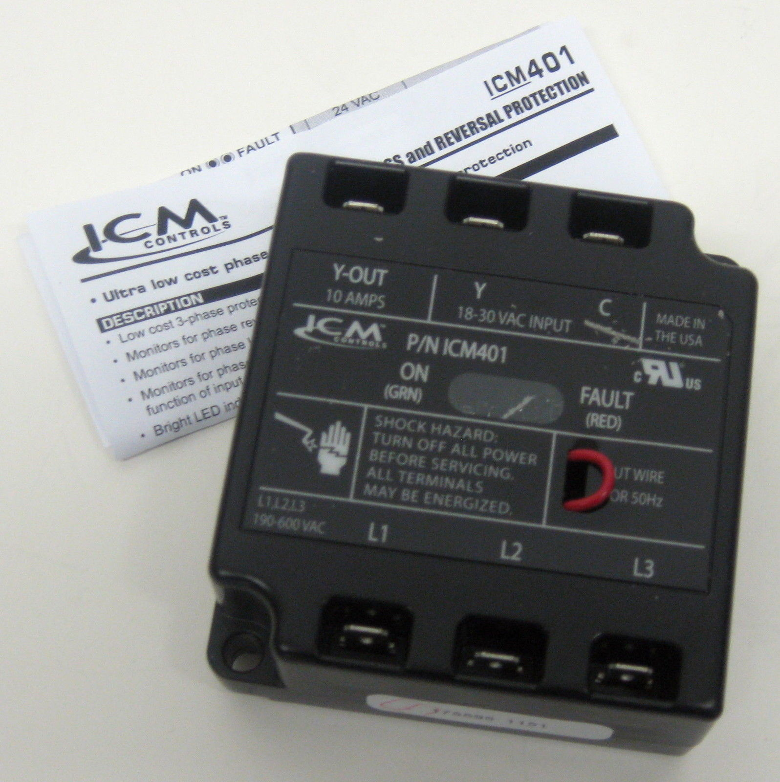 Phase Loss Monitor : Icm three phase line voltage monitor loss protector