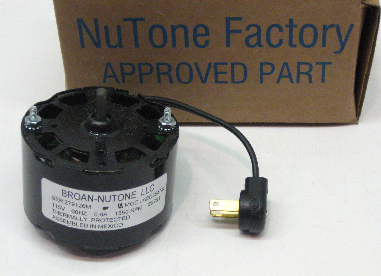 26761ser Genuine Nutone Vent Bathroom Fan Ventilator Motor
