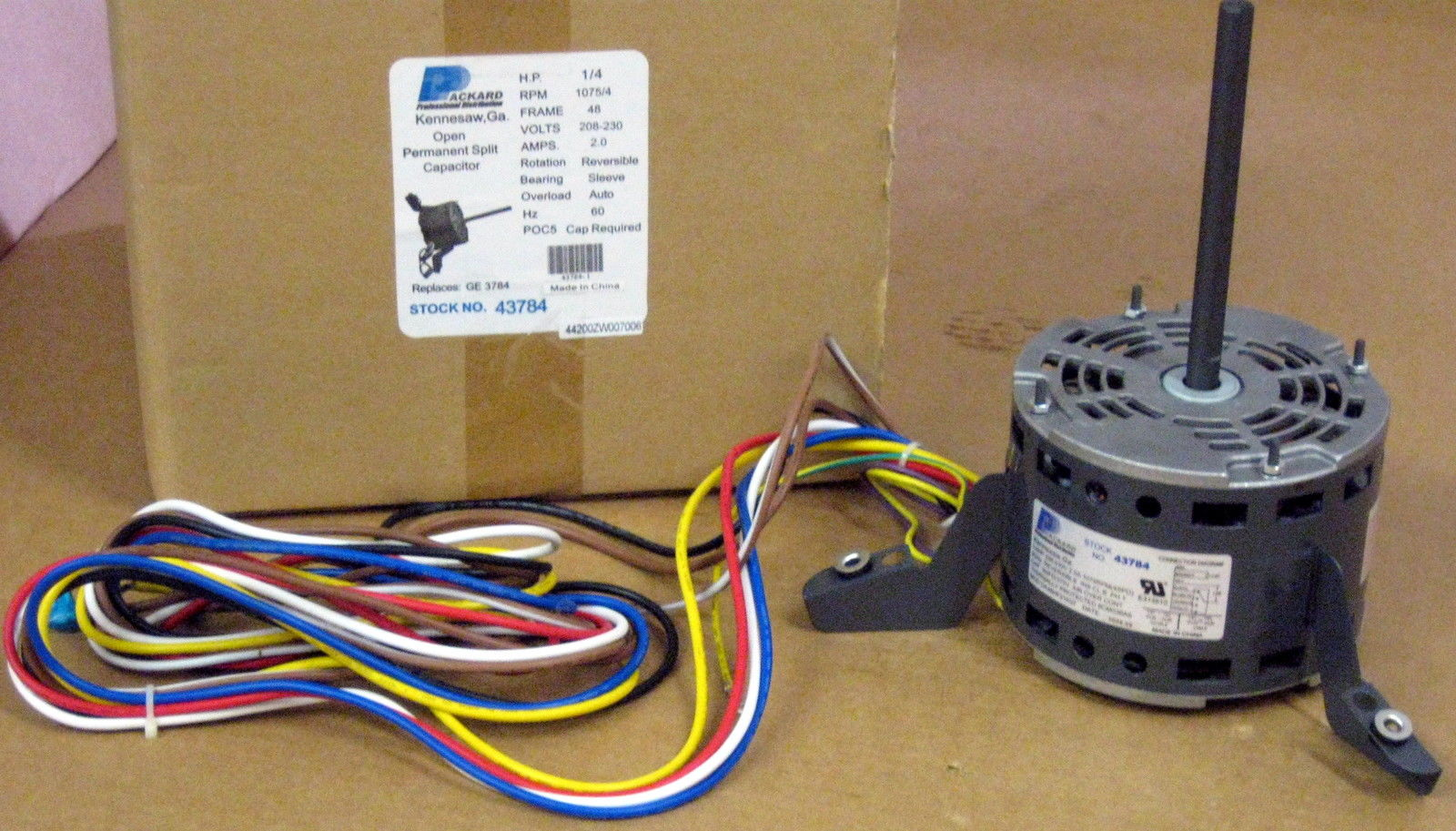 Details about 3784 A/C Blower Motor 1/4 HP 230 V 1075 RPM for Goodman on