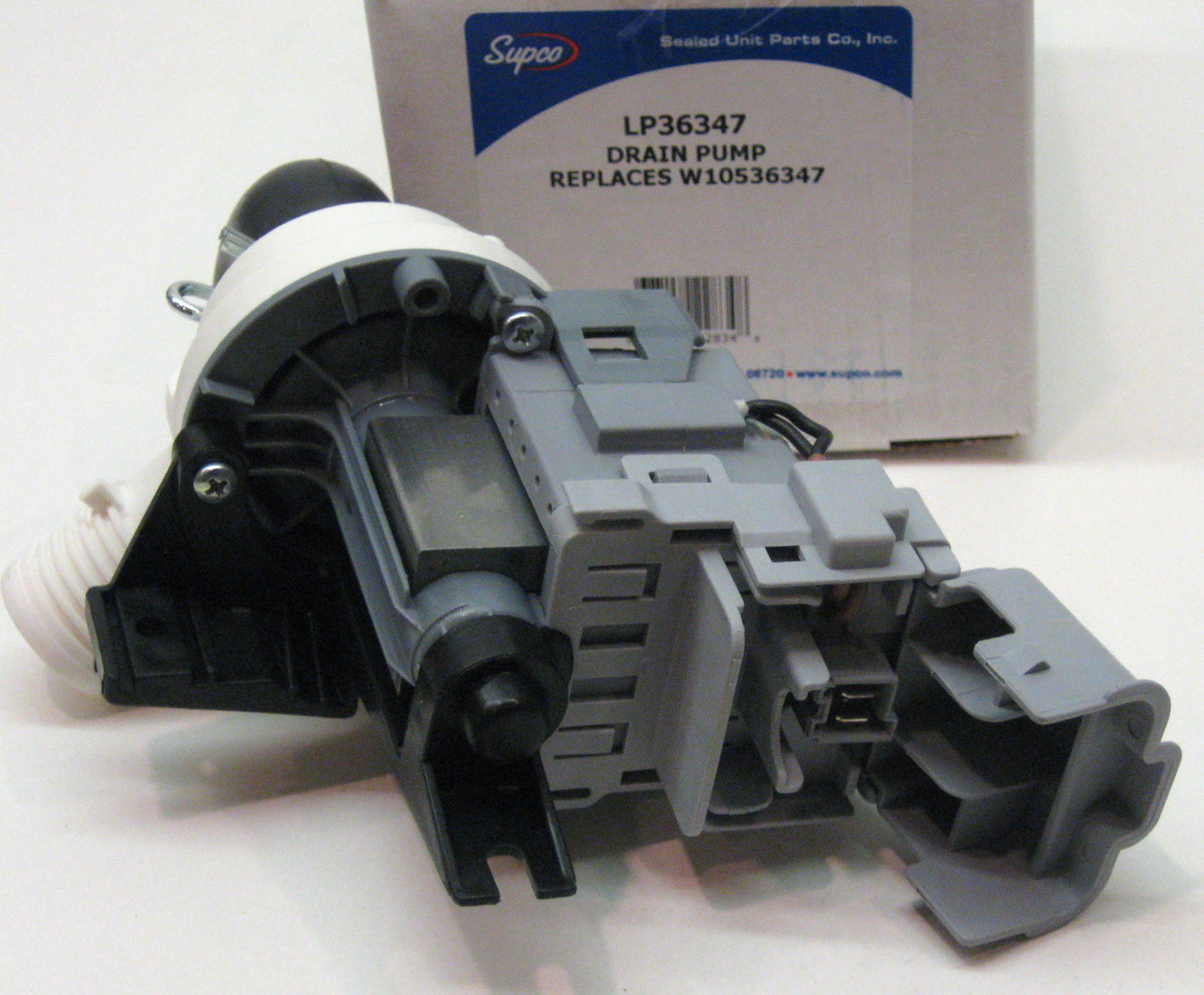 Lp36347 for w10536347 whirlpool kenmore washer pump motor for Kenmore washer motor replacement