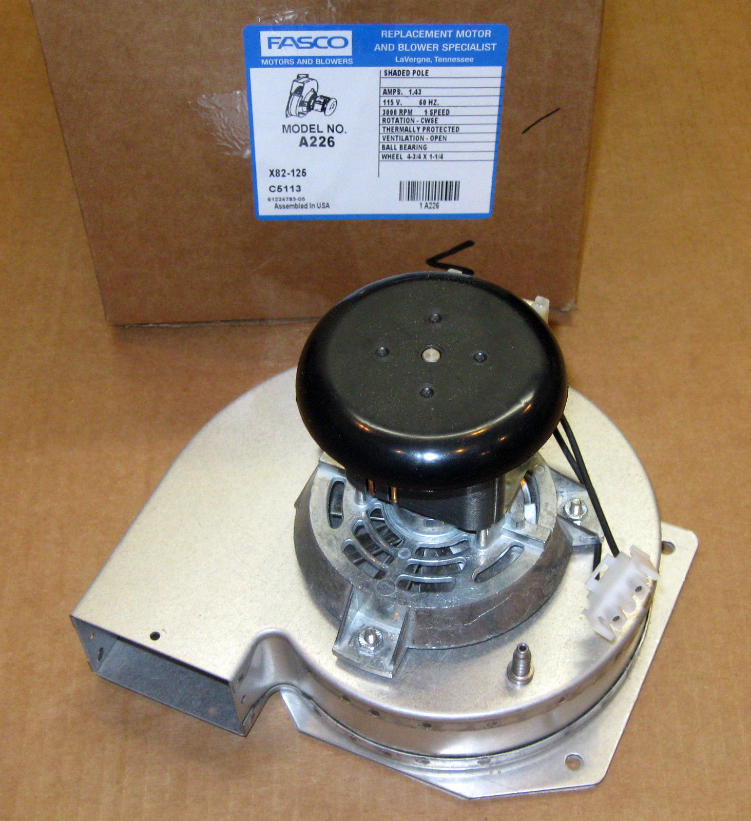 A226 Fasco Draft Inducer Motor For York 7058 0266 7058