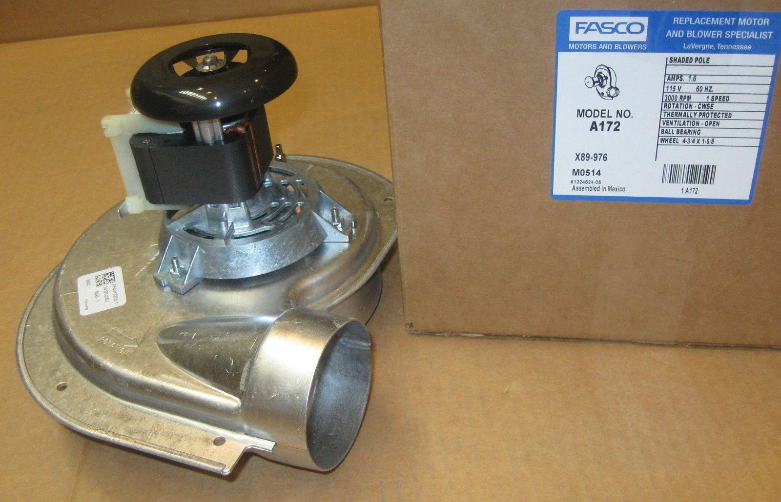 A172 Fasco Furnace Draft Inducer Motor For Heil 1010975p
