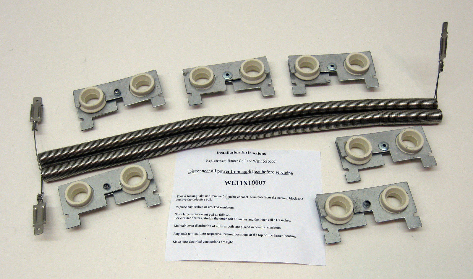 WE11X10007 for GE Dryer Heating Element Coils fits WE11M23