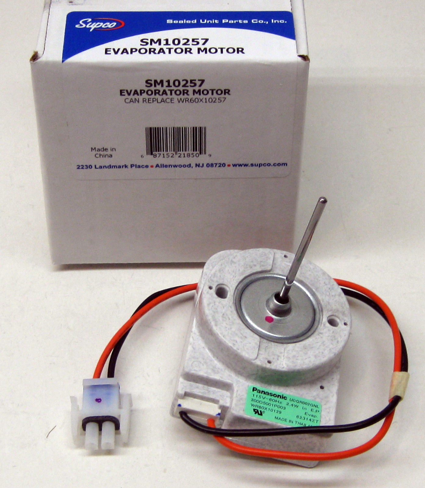 Sm10257 supco for wr60x10257 ge refrigerator fan motor for Ge refrigerator evaporator fan motor replacement