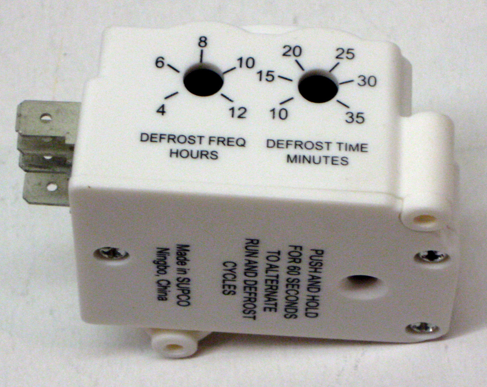 Electronic Voltage Tester For A Refrigerator : Uet supco refrigerator defrost timer control universal