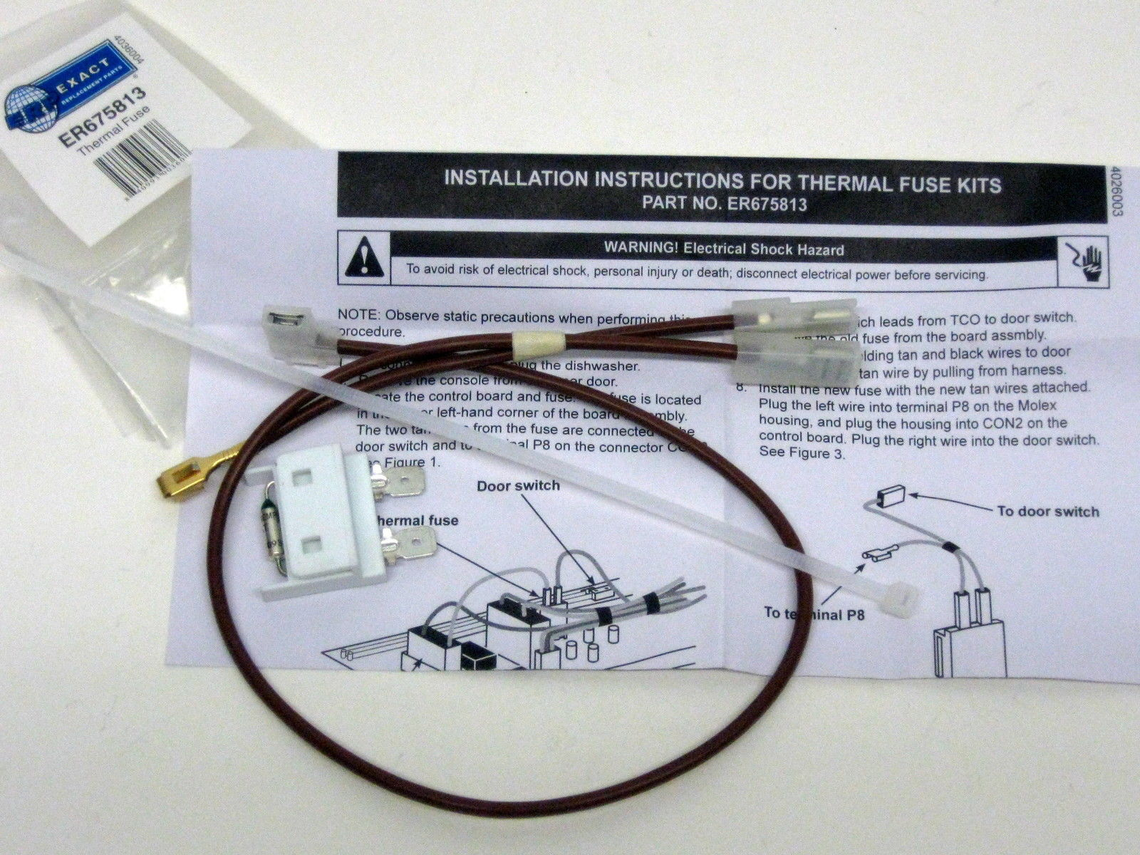 675813 For Whirlpool Kenmore Dishwasher Thermal Fuse Link