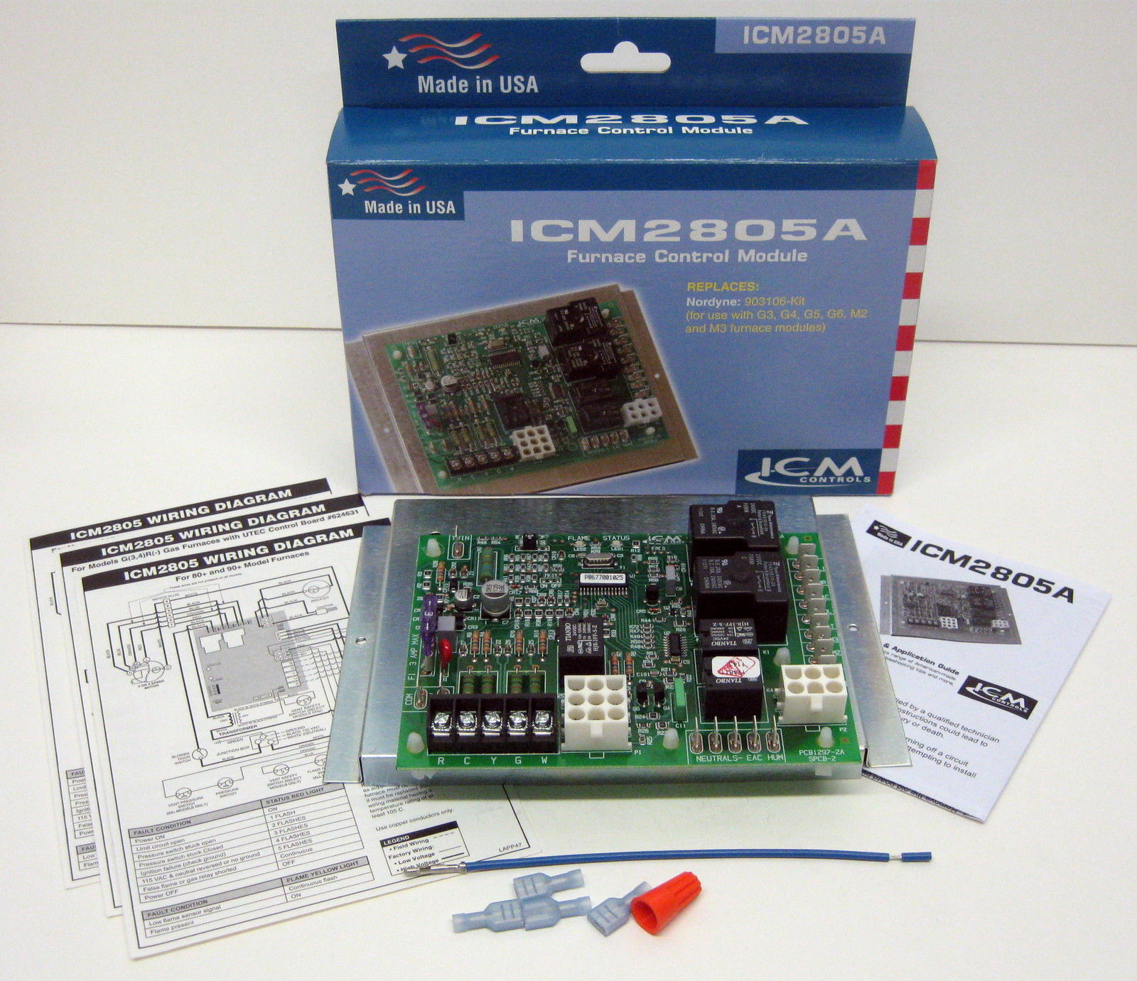 Icm2805a Icm Furnace Control Board For Nordyne Intertherm Miller Air Conditioner Wiring Diagram 903106 624631 B