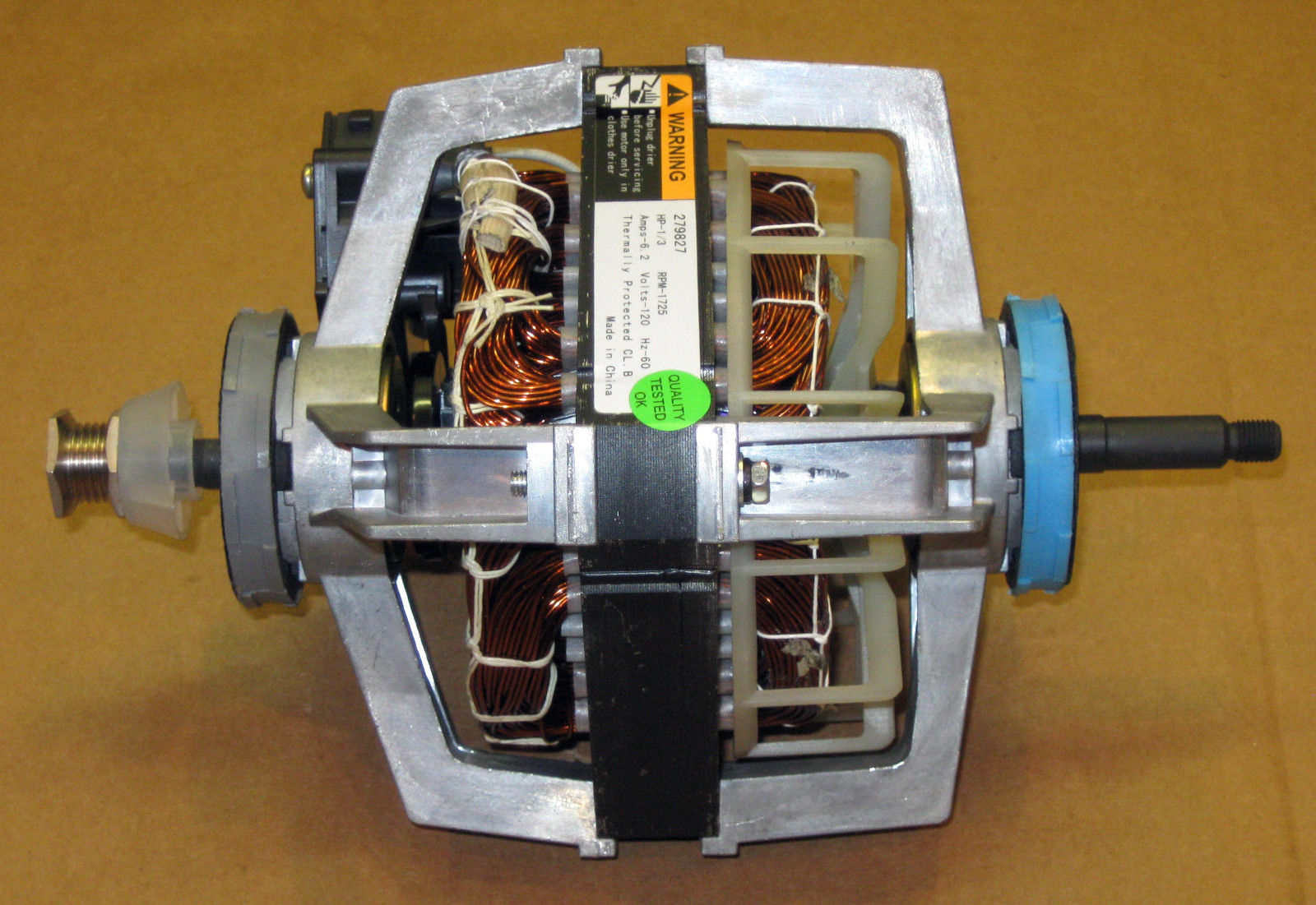 Wp279827 Dryer Motor For Whirlpool Roper Kenmore 3395652