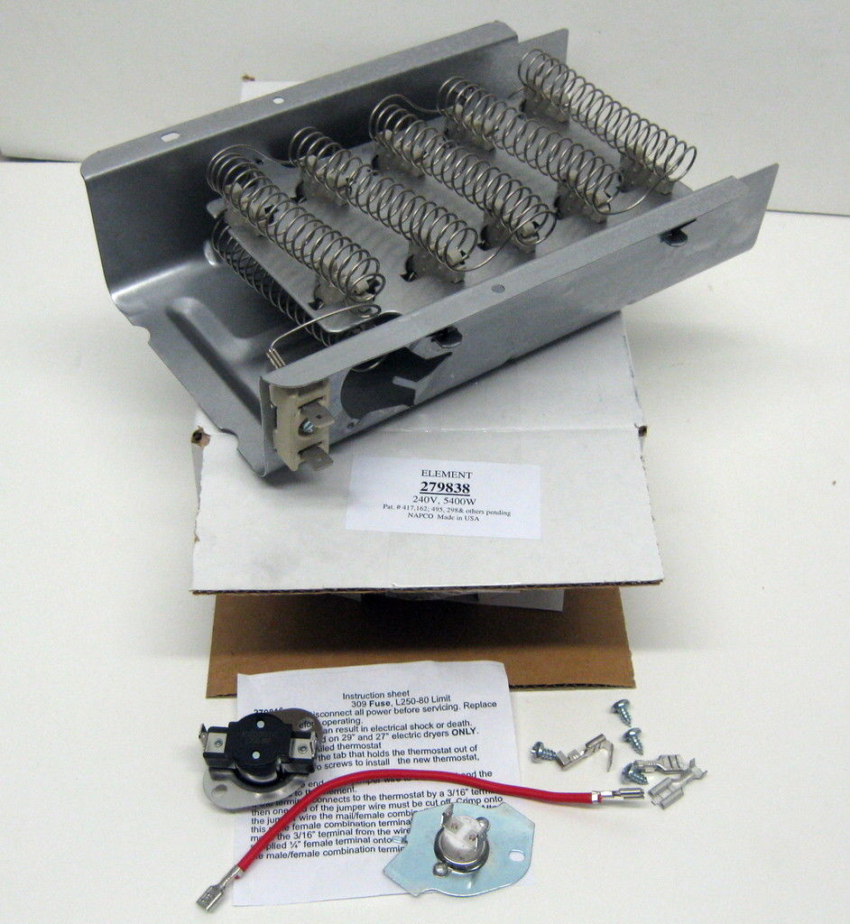 W86pk 279838 Amp 279816 For Whirlpool Kenmore Heating Heater