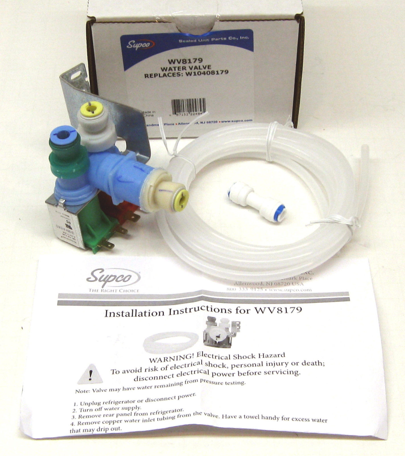 Wv8179 for w10408179 whirlpool kitchenaid refrigerator water valve supco ebay - Kitchenaid dishwasher fill valve ...