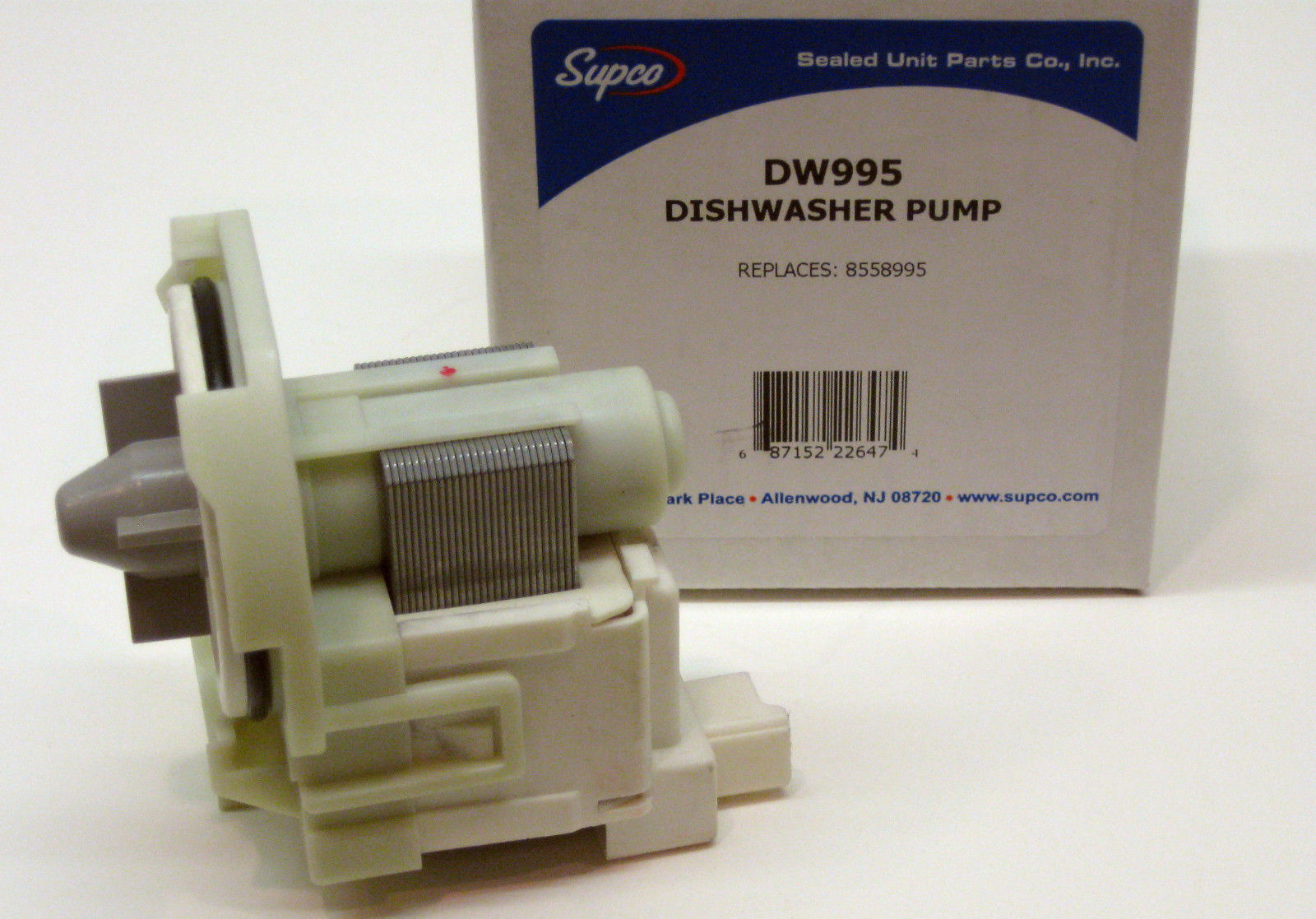 Dishwasher Drain Pump Supco Dw995 For Whirlpool Kenmore