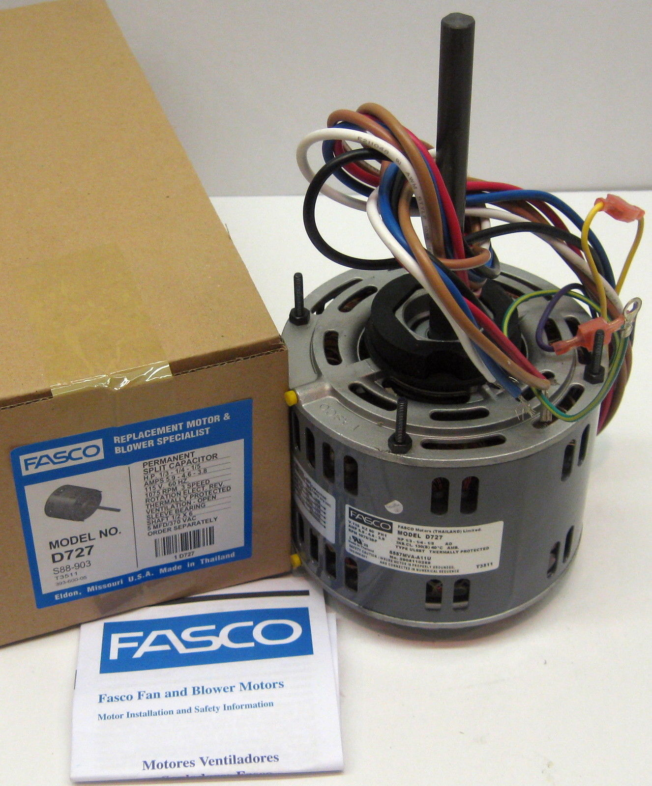 fasco d727 wiring diagram d727 fasco 1/3 hp 1075 rpm 115 v 3 speed furnace blower ... fasco wiring diagram #13