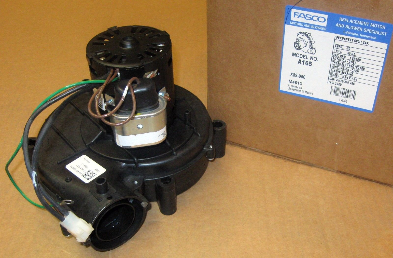 A165 Fasco Furnace Draft Inducer Motor for York 7062-3958 024 ...