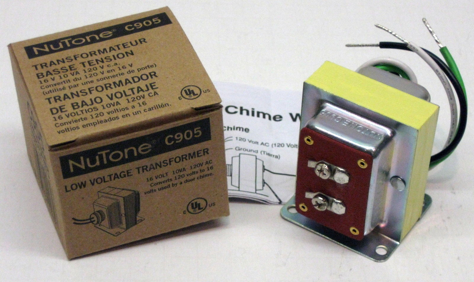 C905 16 Volt 10va Transformer Broan Nutone Door Chime Low