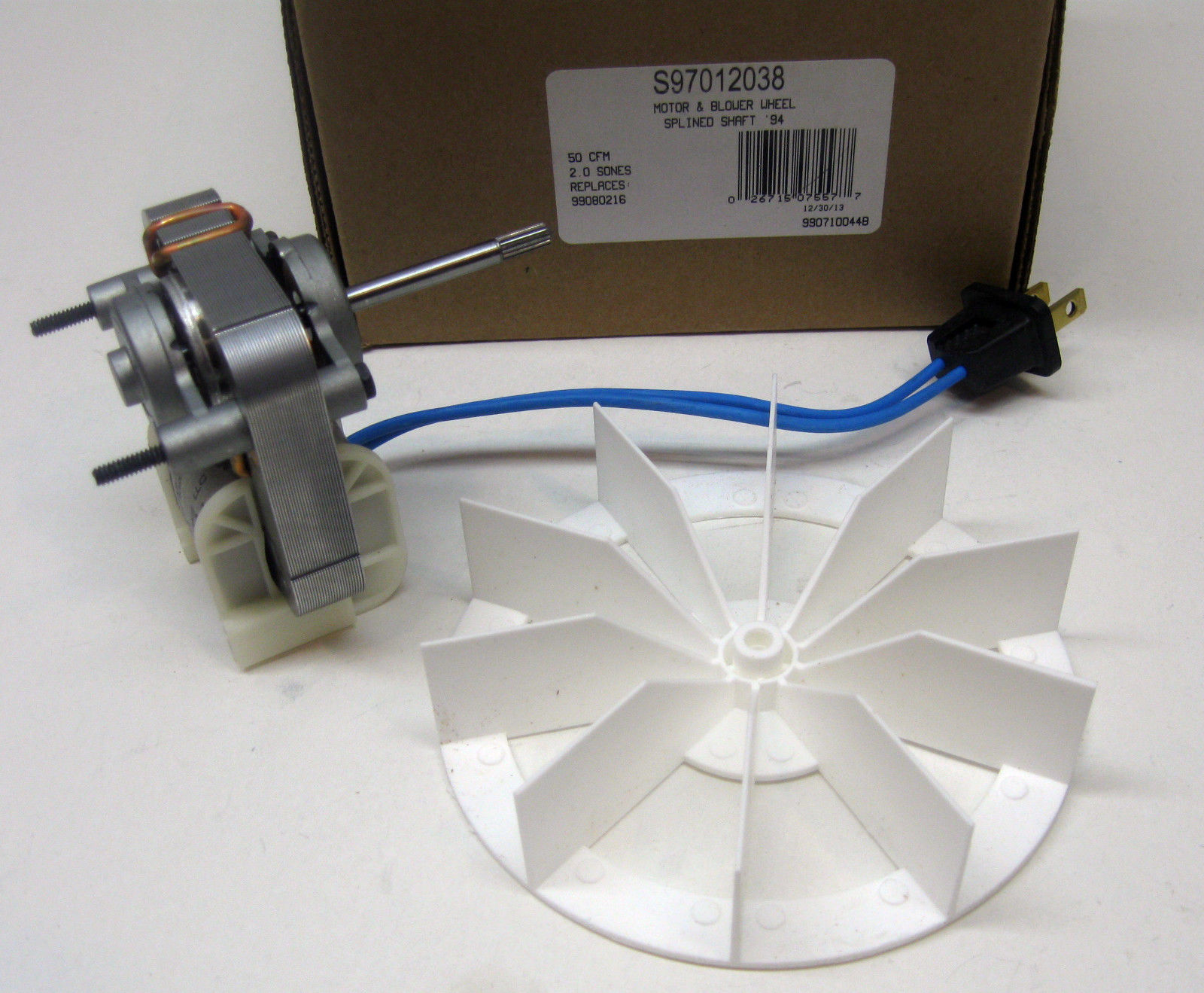 S97012038 Broan Nautilus Vent Fan Motor Amp Wheel 50 Cfm 2