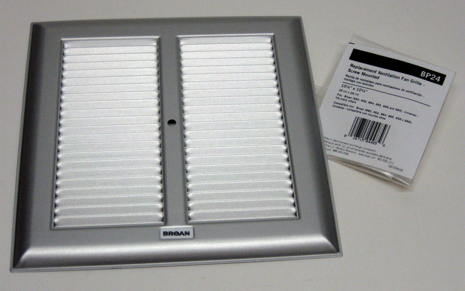 Bp24 Broan Bath Bathroom Ceiling Fan Grille Grill Cover Metal Silver Color Ebay