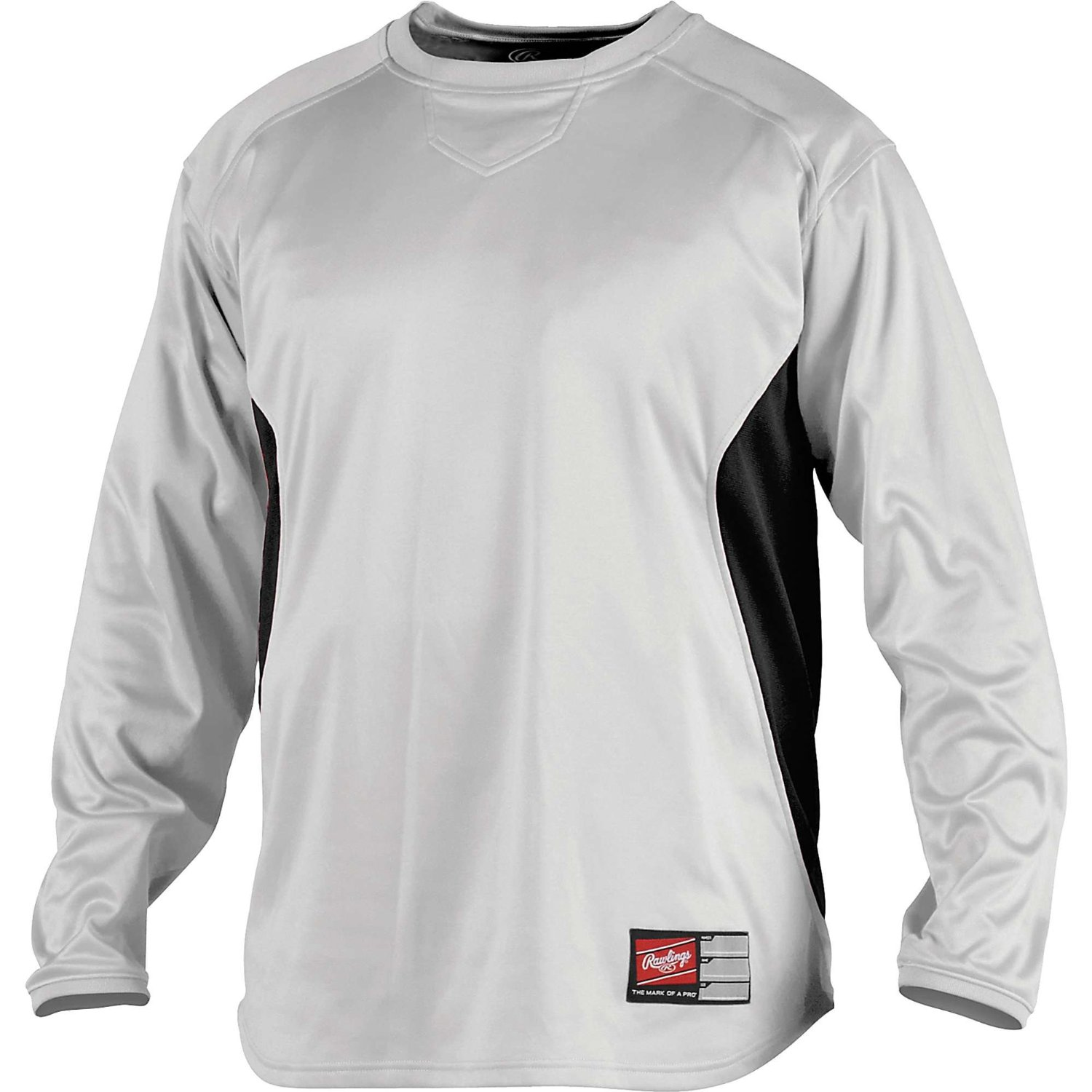 Rawlings udfp2 men 39 s dugout fleece baseball shirt pullover for Pull over shirts for mens