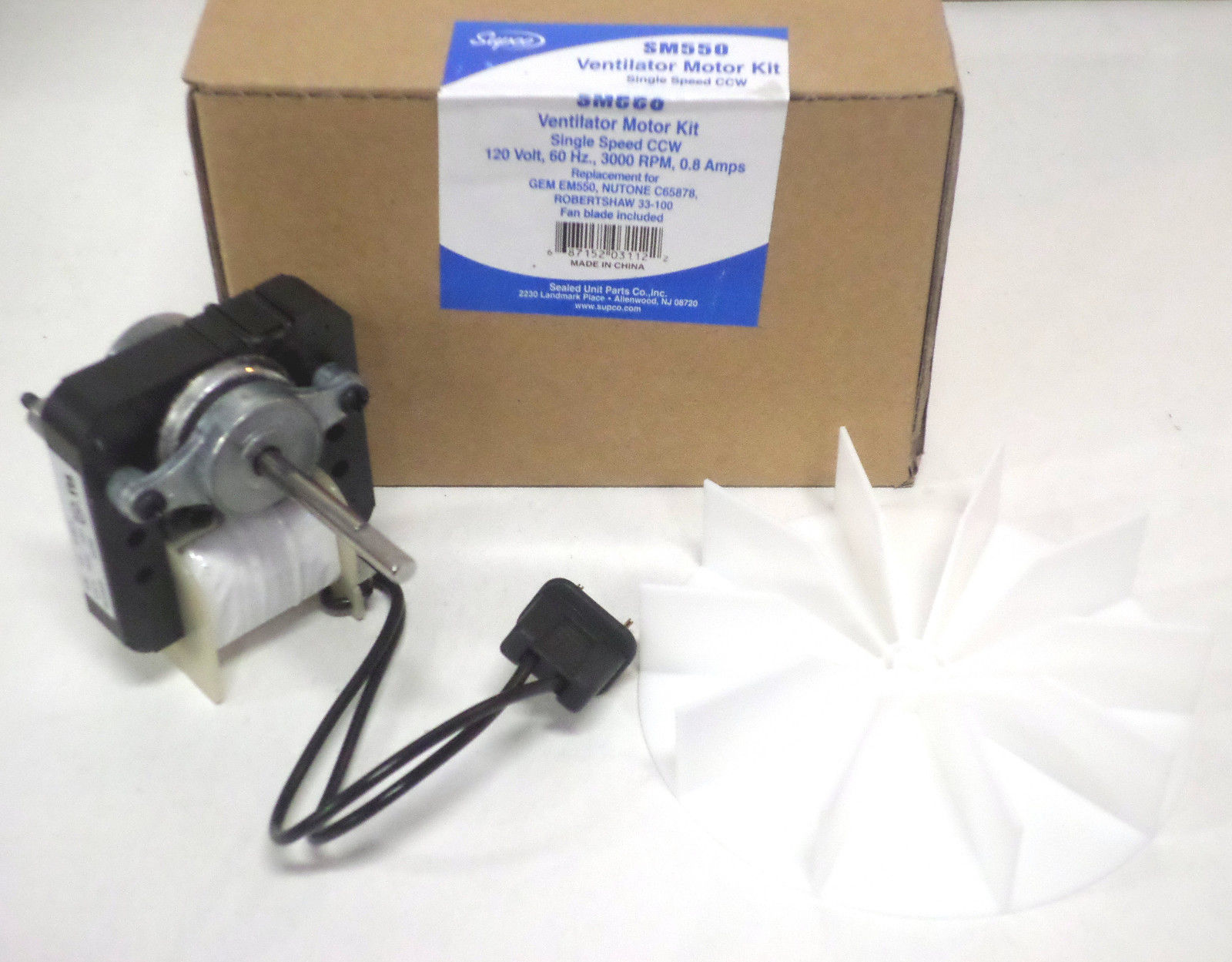 65100 universal bathroom vent fan ventilator motor 50cfm for Bath fan motor replacement