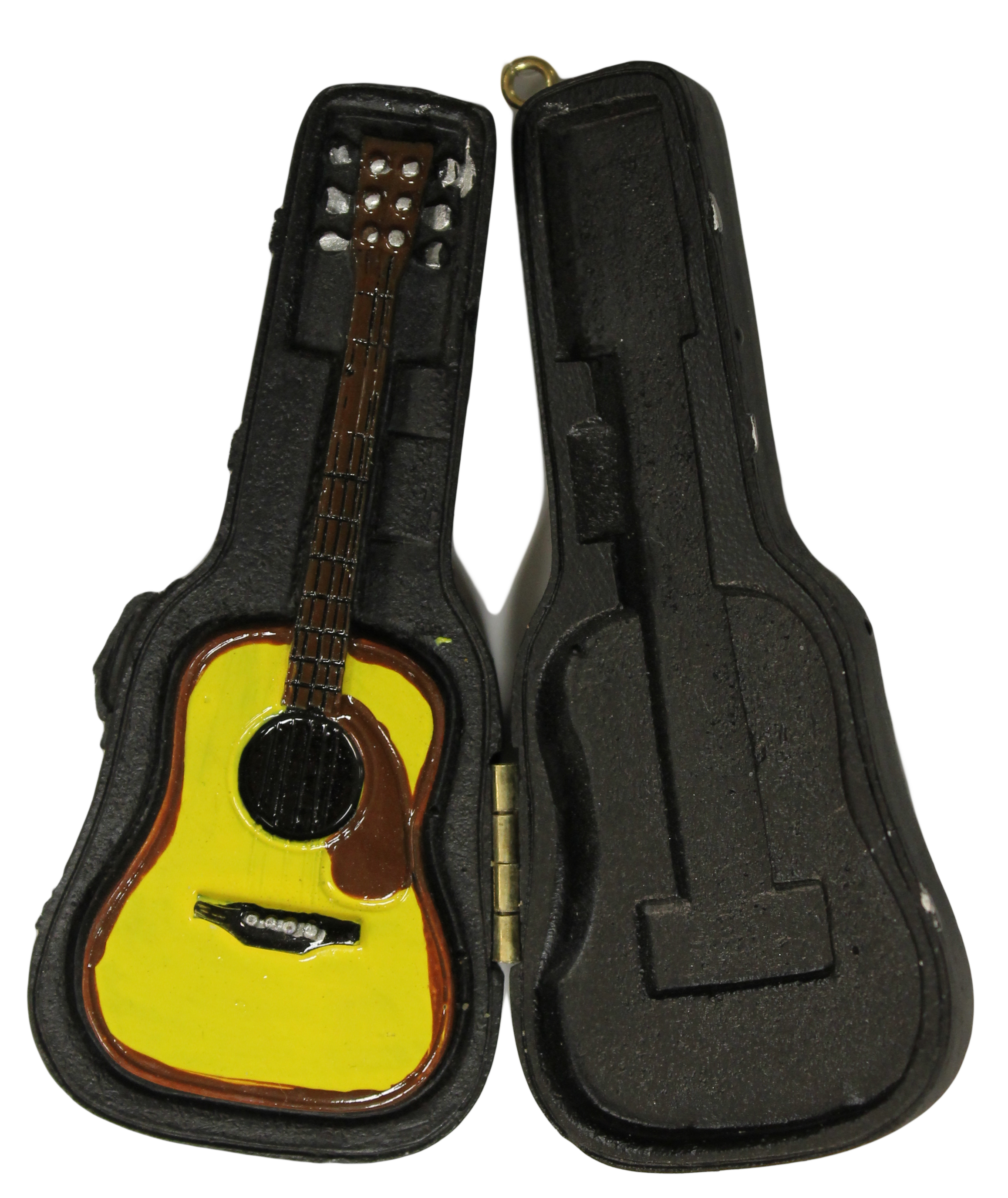 Christmas decoration music lovers acoustic guitar in case for Acoustic guitar decoration ideas