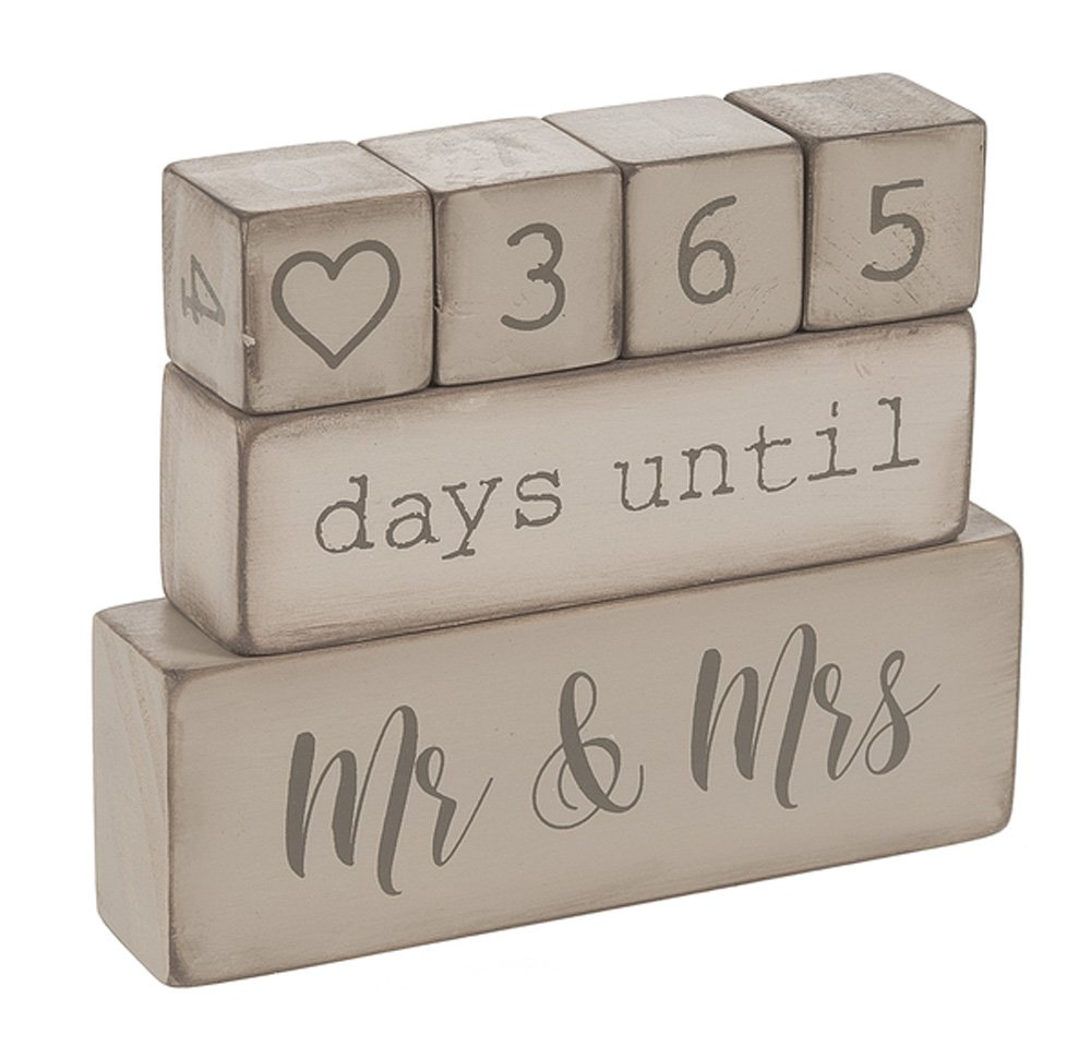 Uncategorized Wooden Block Calendar ganz 6 piece wooden block wedding day countdown calendar ebay calendar