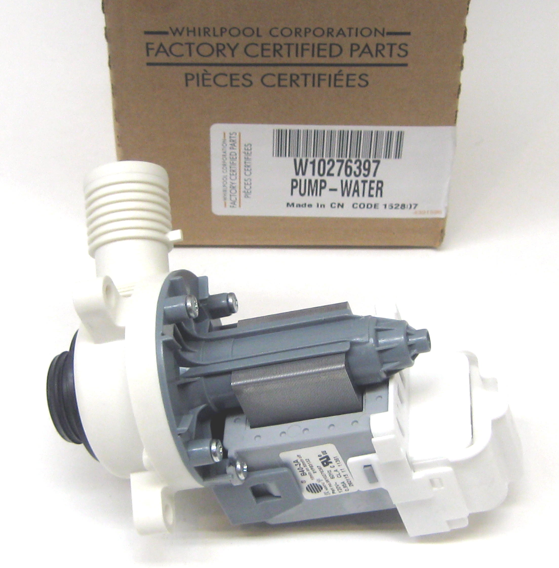 w10276397 whirlpool kenmore washer water drain pump motor