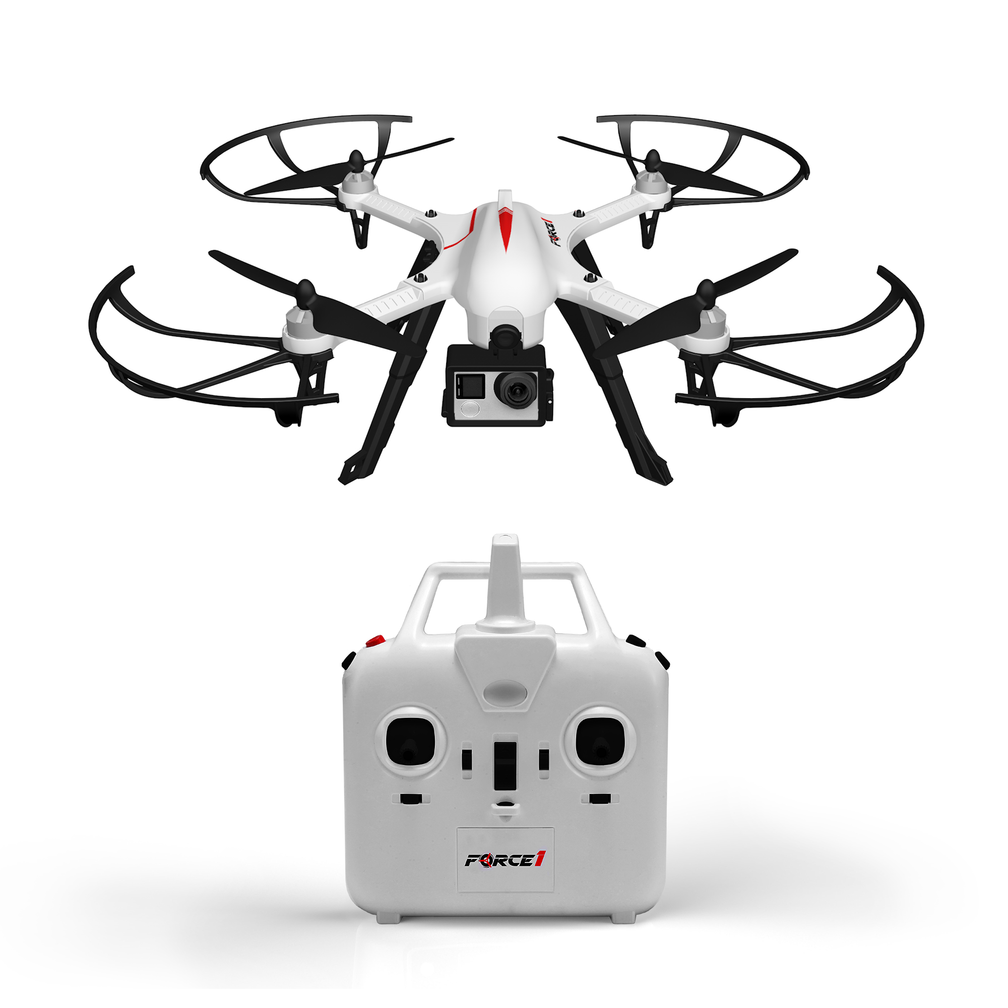 Force1 F100 Ghost GoPro Drone Camera w/ Brushless Motors Quadcopter ...