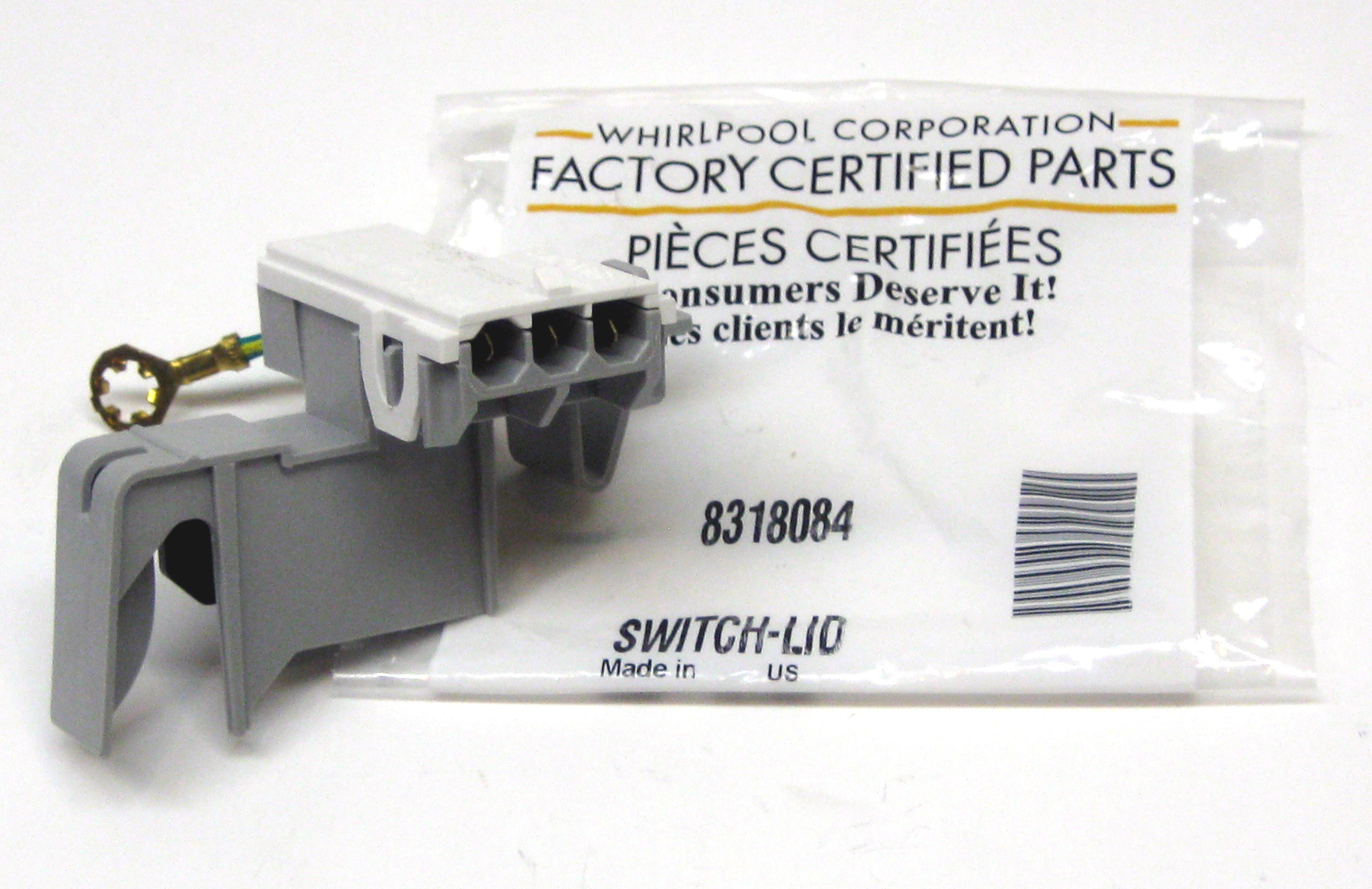 Wp8318084 Oem Whirlpool Kenmore Roper Washer Lid Switch