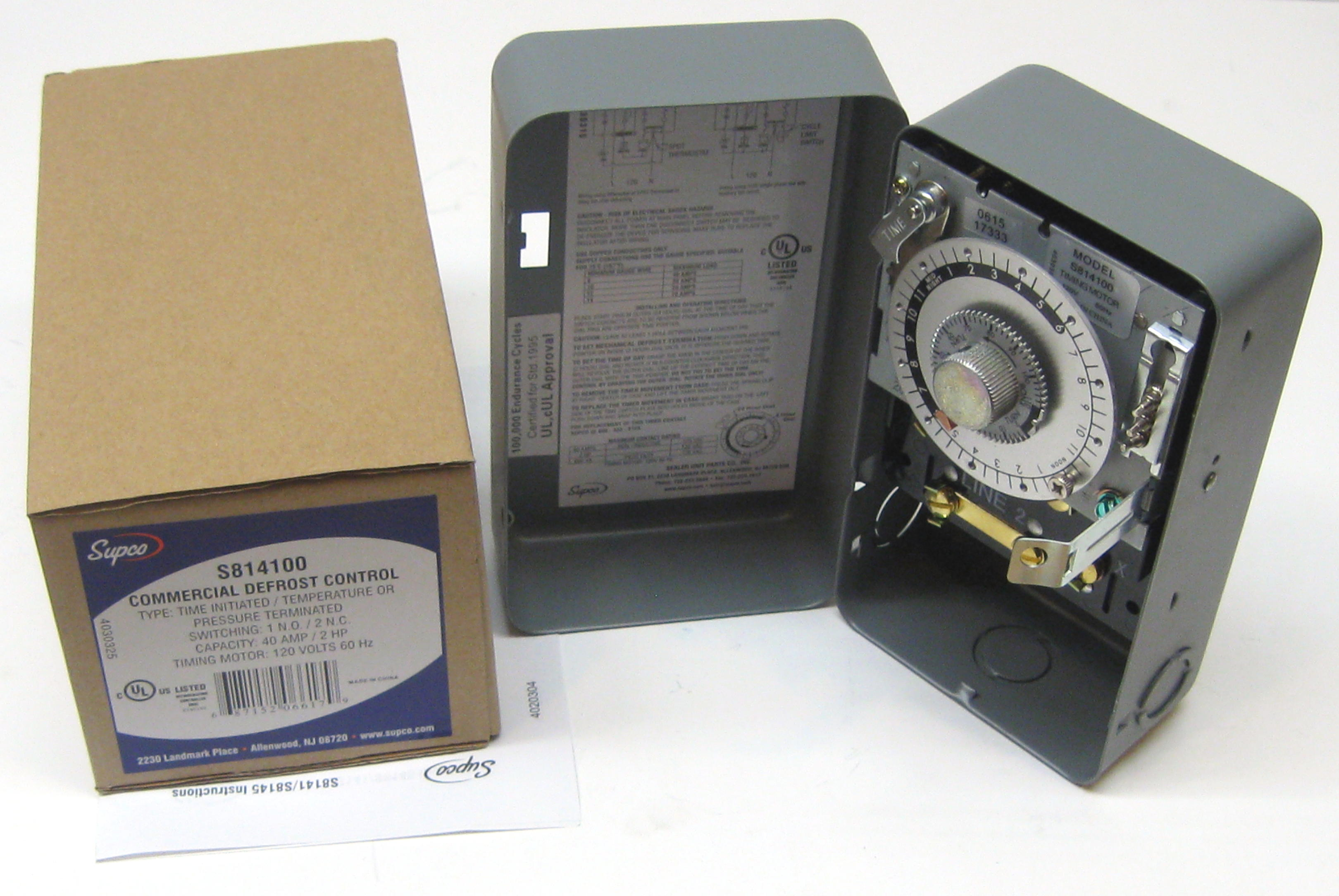 s814100 supco commercial refrigeration defrost timer for paragon