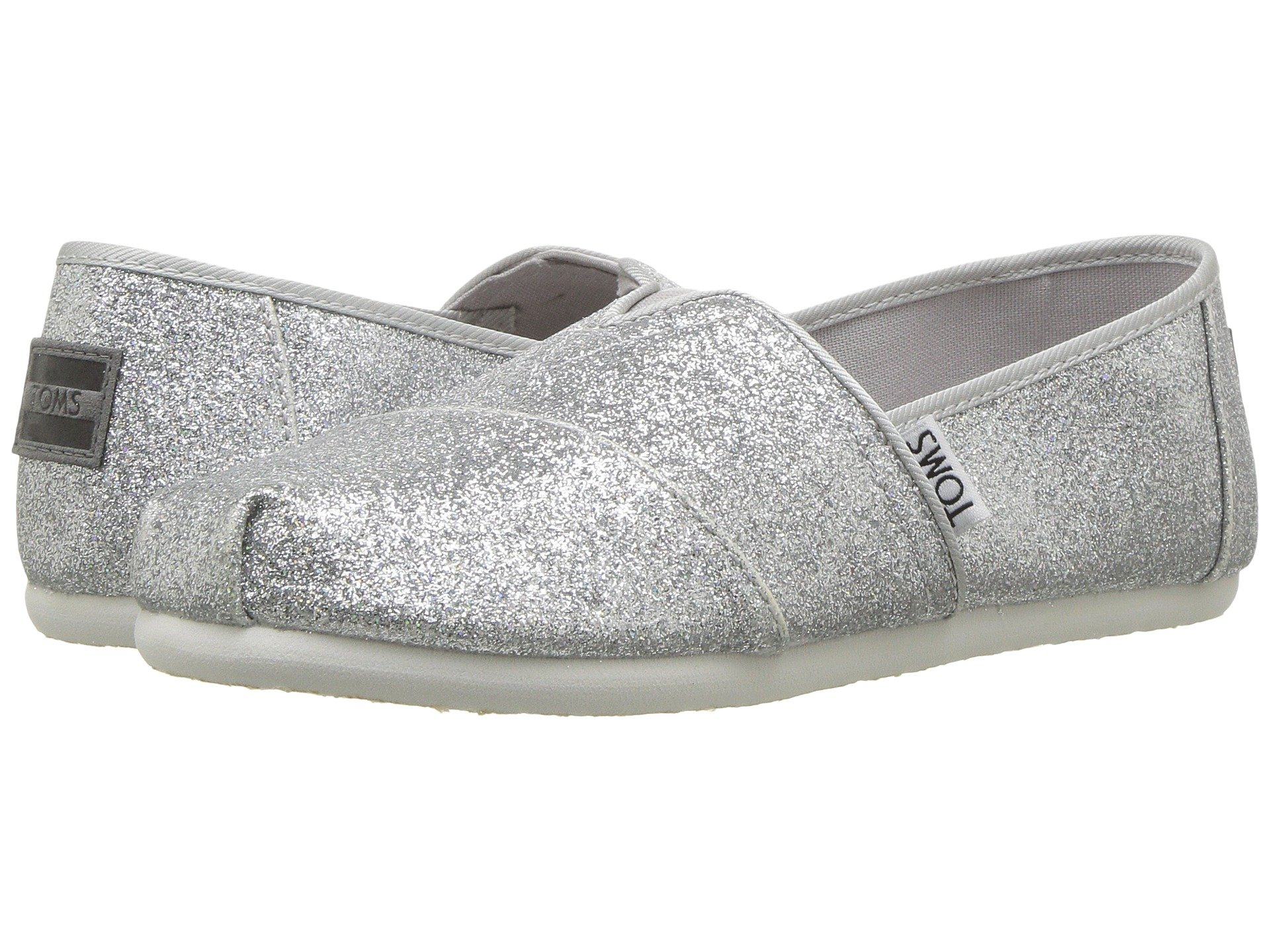 33dd6580fa4 The Classics are the original TOMS shoe that started the One for One  movement.Silver iridescent glimmer upperClassic Alpargata  designVeganDesigned for kids ...