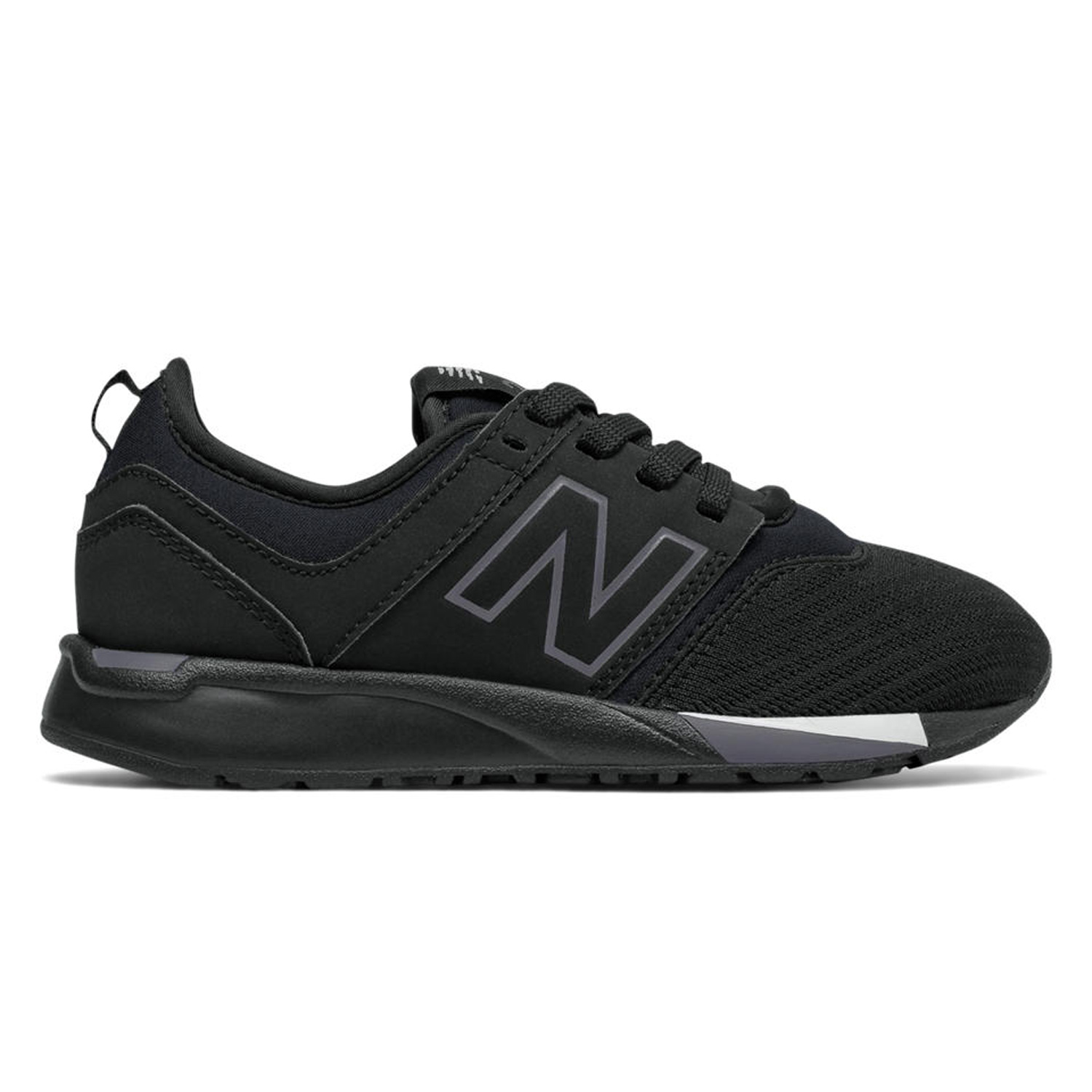 1361ad852e Details about New Balance 247 Classic Kids Sneaker Shoes Black White  KL247BWP KL247BWG