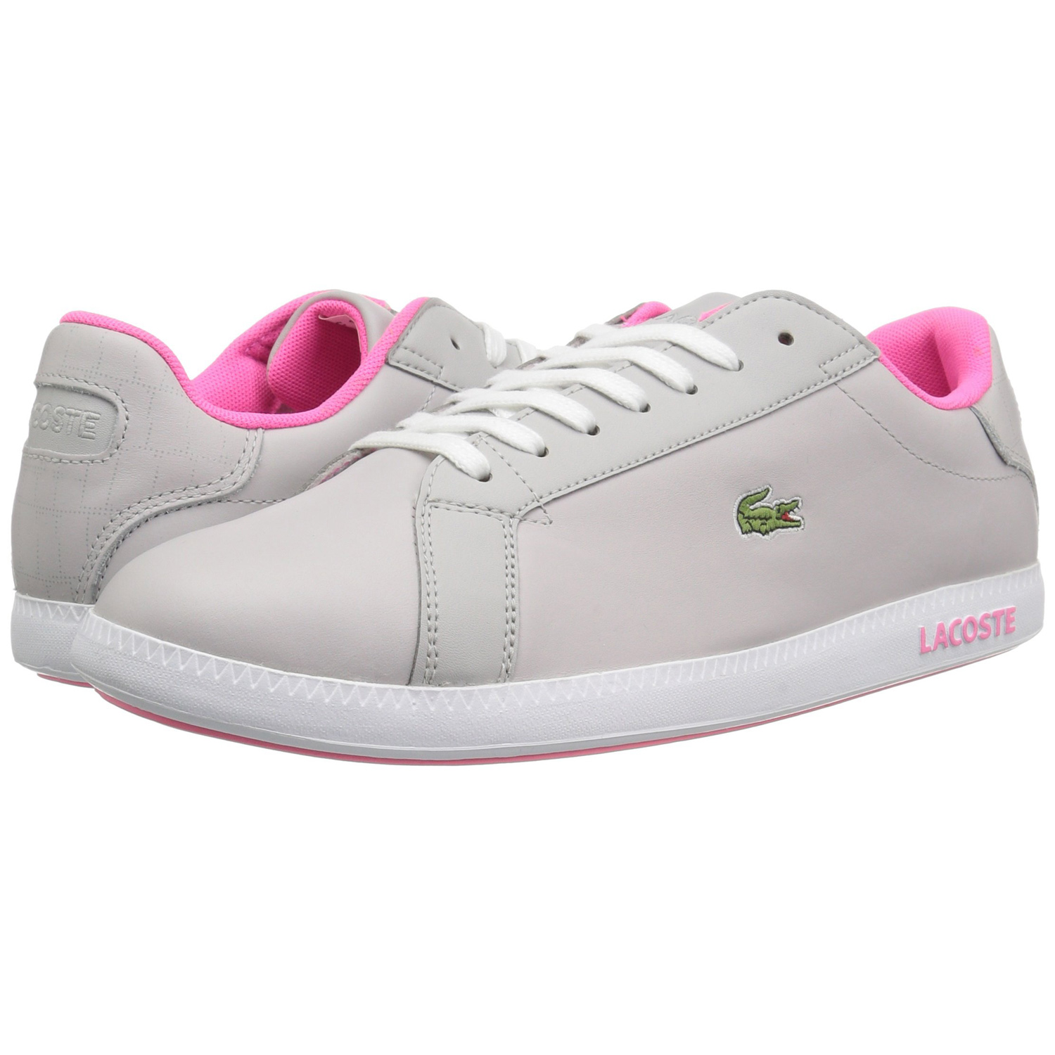 538e6ebe2f22 Step your style game up to the next vele with the Lacoste Graduate 1 Sneaker.  This court-inspired lace-up sneaker has a nappa leather upper with feminine  ...